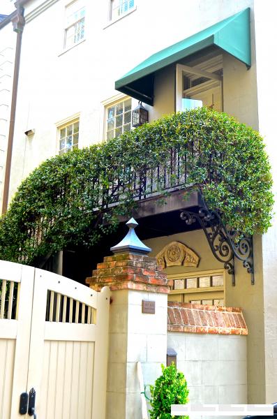 Charleston ivy covered balcony, side