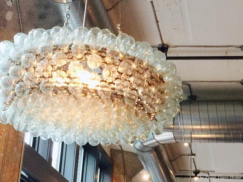 the kitchen, chandelier