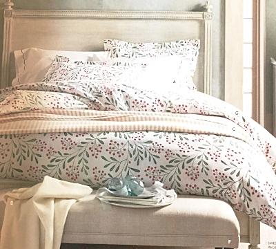 Winterberry Flannel Bedding, Photo: Garnet Hill