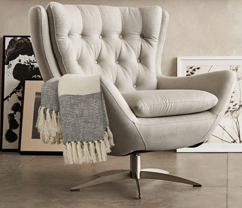pottery barn-wells swivel armchair