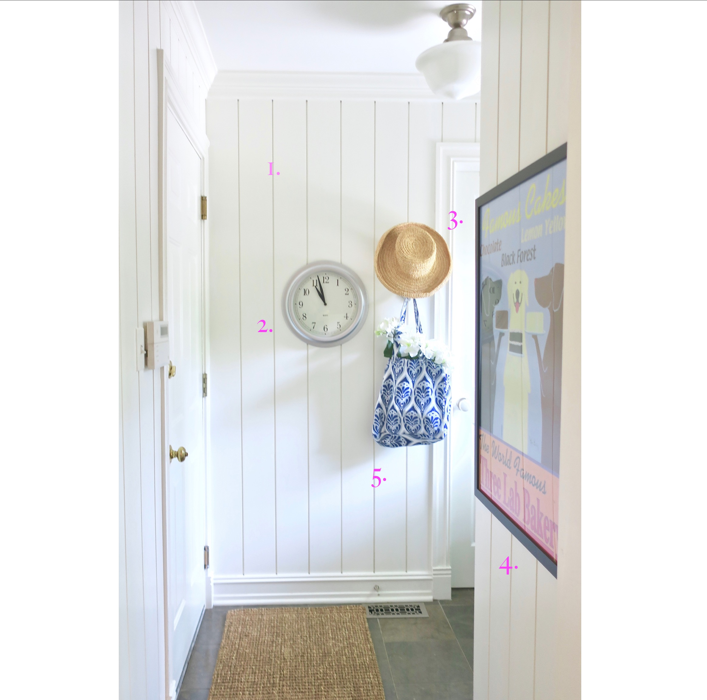 Our bright, beachy mudroom, thephasethreehome.com