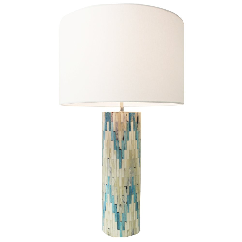 Blue Mosaic Lamp The Tailored Home