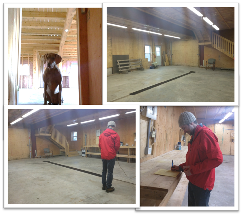 We have Andy measuring up the space and Abby make sure he's checking it twice!