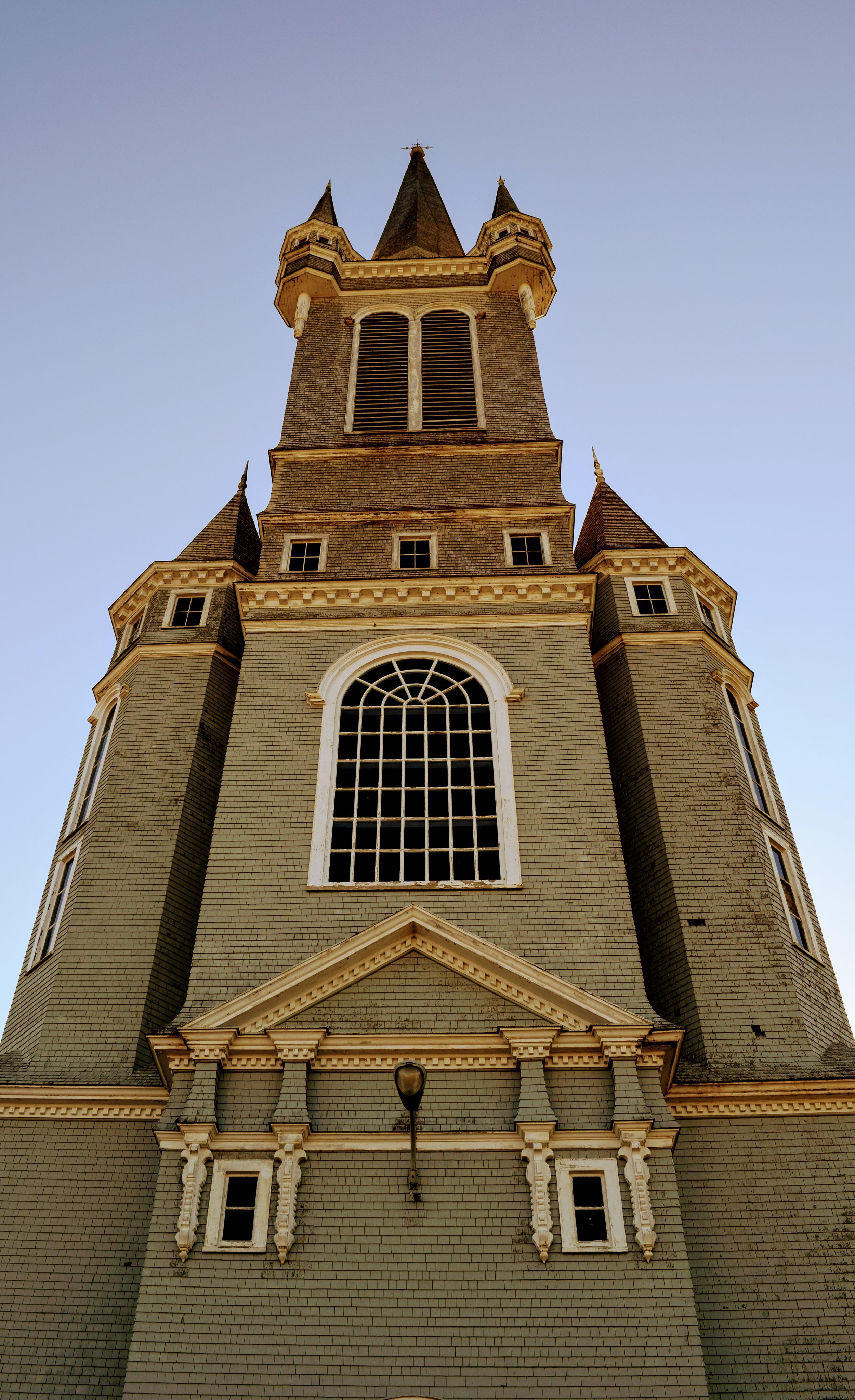 The  Église Sainte-Marie at the   Université Sainte-Anne. One of the largest wooden structures wooden building in North America. Taller than the Statue of Liberty (minus the base).