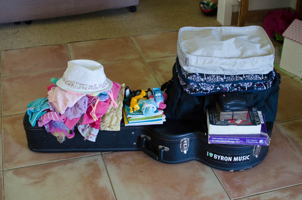 About 80% of what's coming overseas with us! Yep. That's pretty much it.