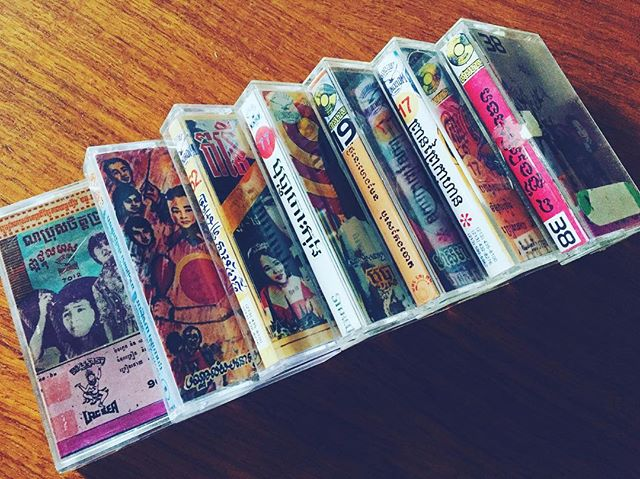 We got our hands on these #bootleg #cassettes of #60's #cambodian #rocknroll. Anyone in #phnompenh have a #tapedeckwe can borrow?