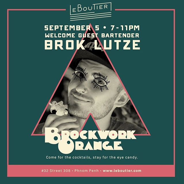 Brokwork Orange! September 5th at @leboutier! #wouldyou