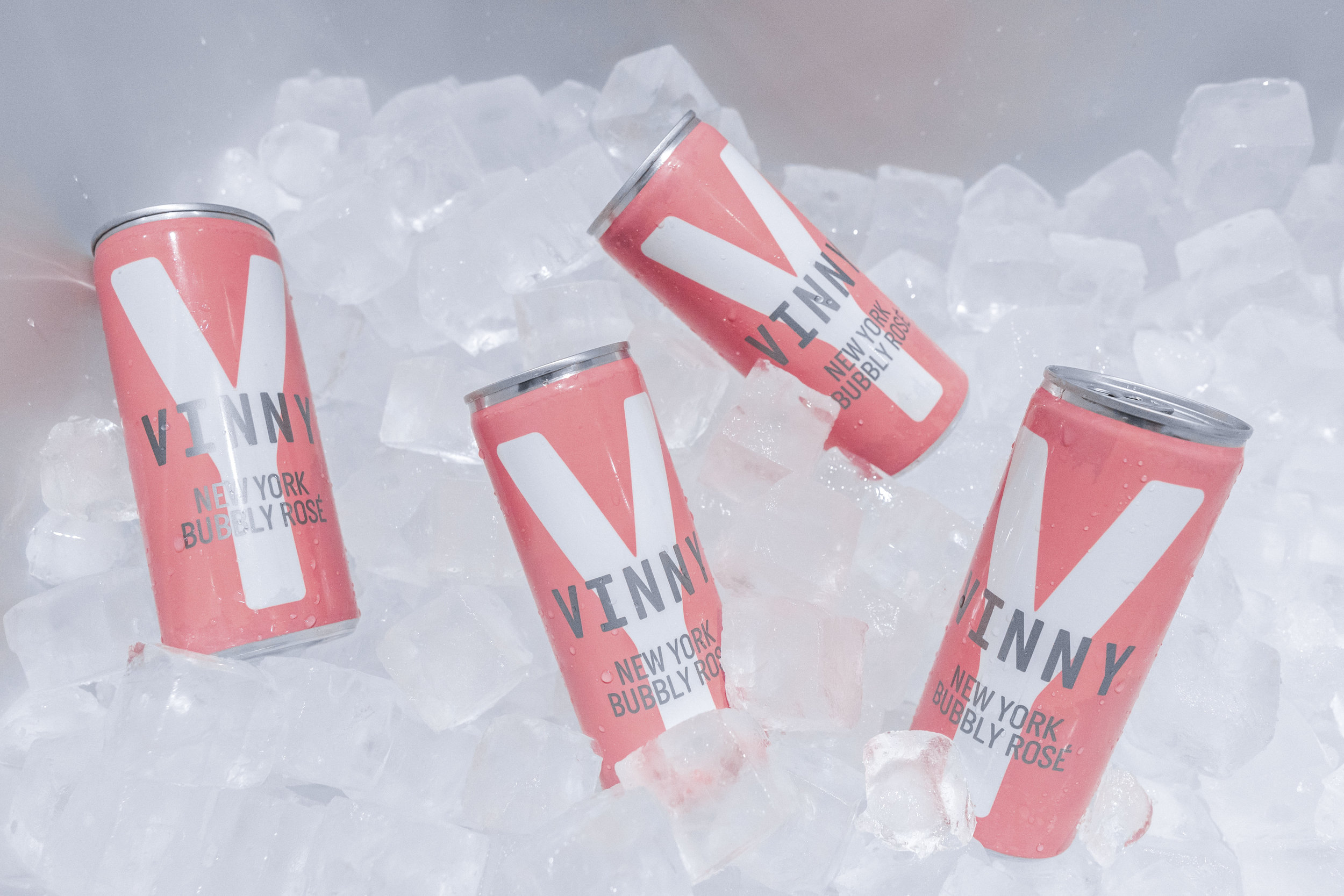 Vinny Canned Rosé - Light bubbles bursting with strawberry peach and a touch of citrus lemon.