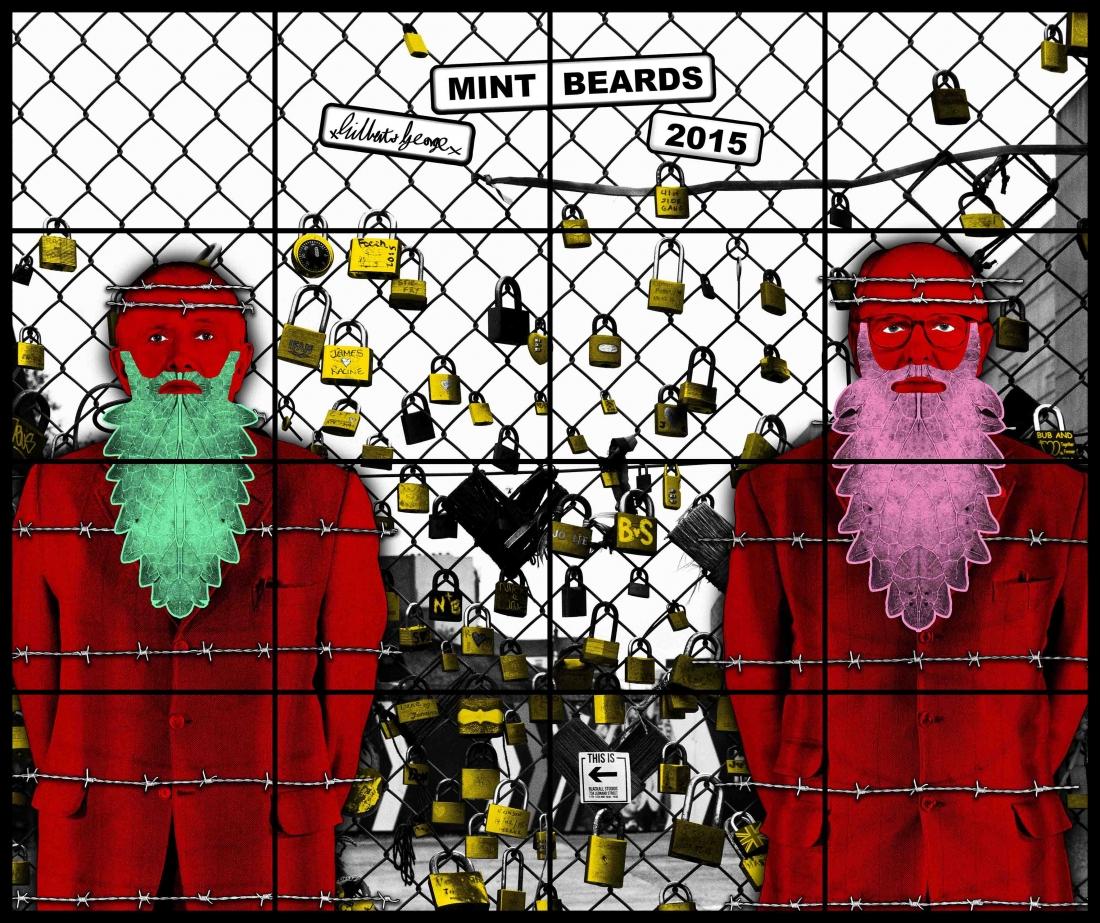 Gilbert & George, MINT BEARDS, 2015, 254 x 302 cm © Gilbert & George | Courtesy White Cube