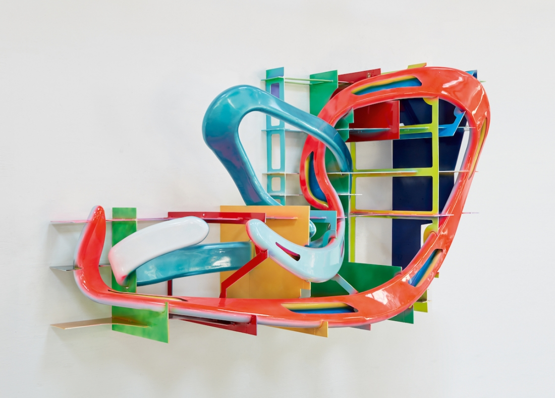 Frank Stella, Leeuwarden II, 2017, painted metal, 171 x 295 x 106 cm. Picture credit: artwork © Frank Stella (pages 34-5)