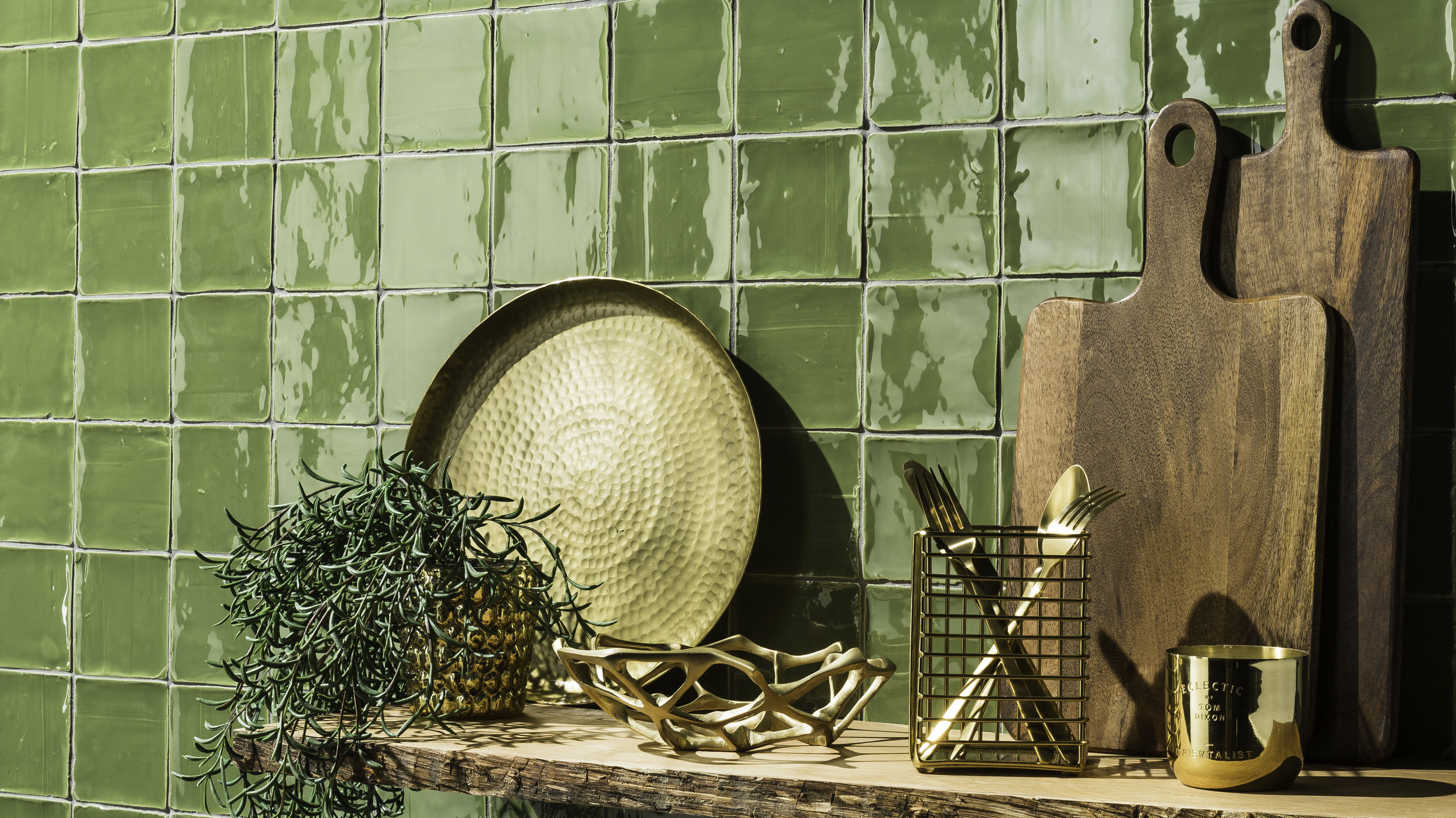 Country Rustic in Apple Green from Johnson Tiles' Minton Hollins Collection
