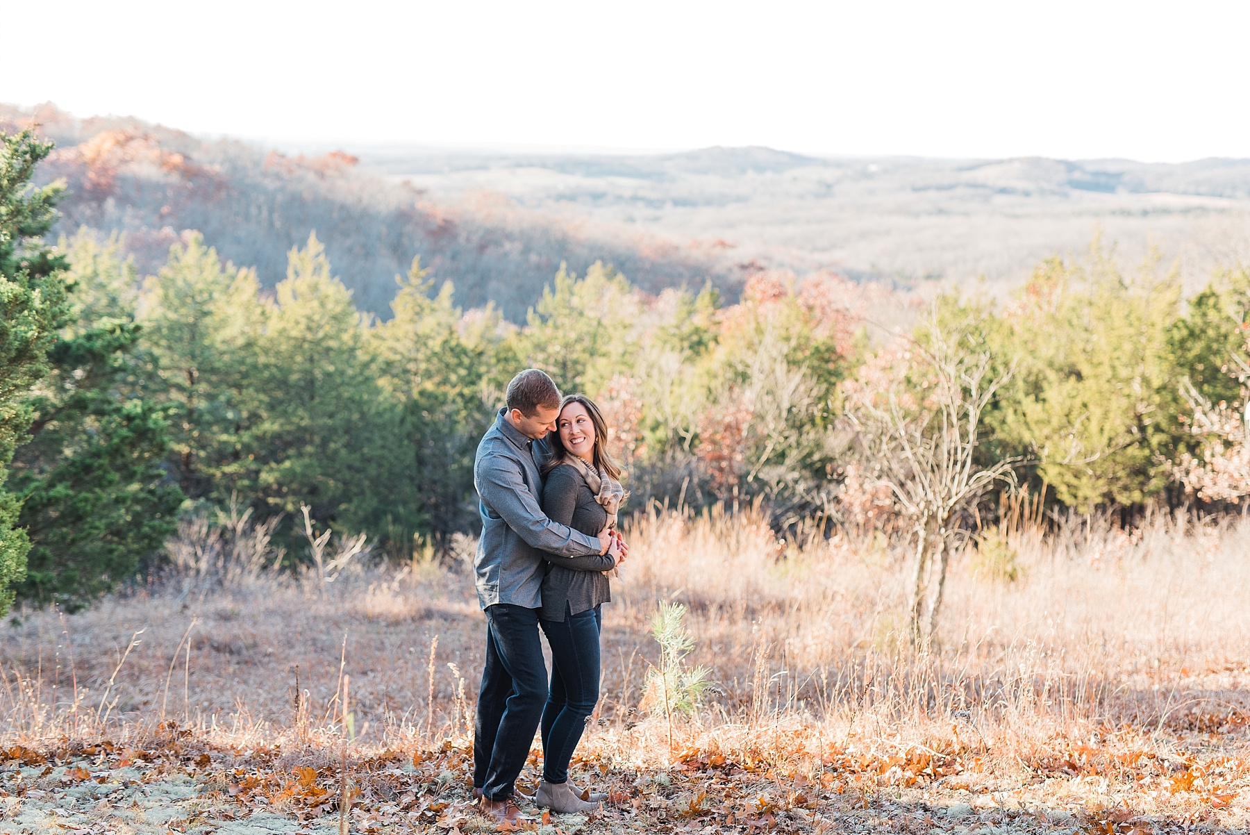 Mid-Missouri Fall Engagement In Pines_0044.jpg