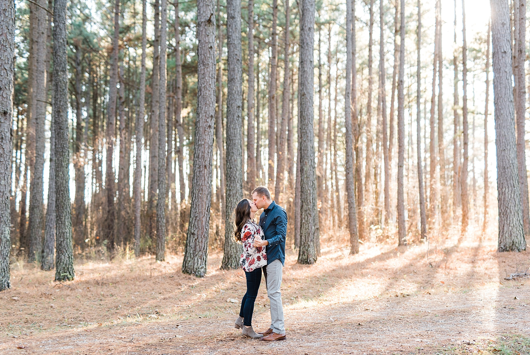 Mid-Missouri Fall Engagement In Pines_0052.jpg