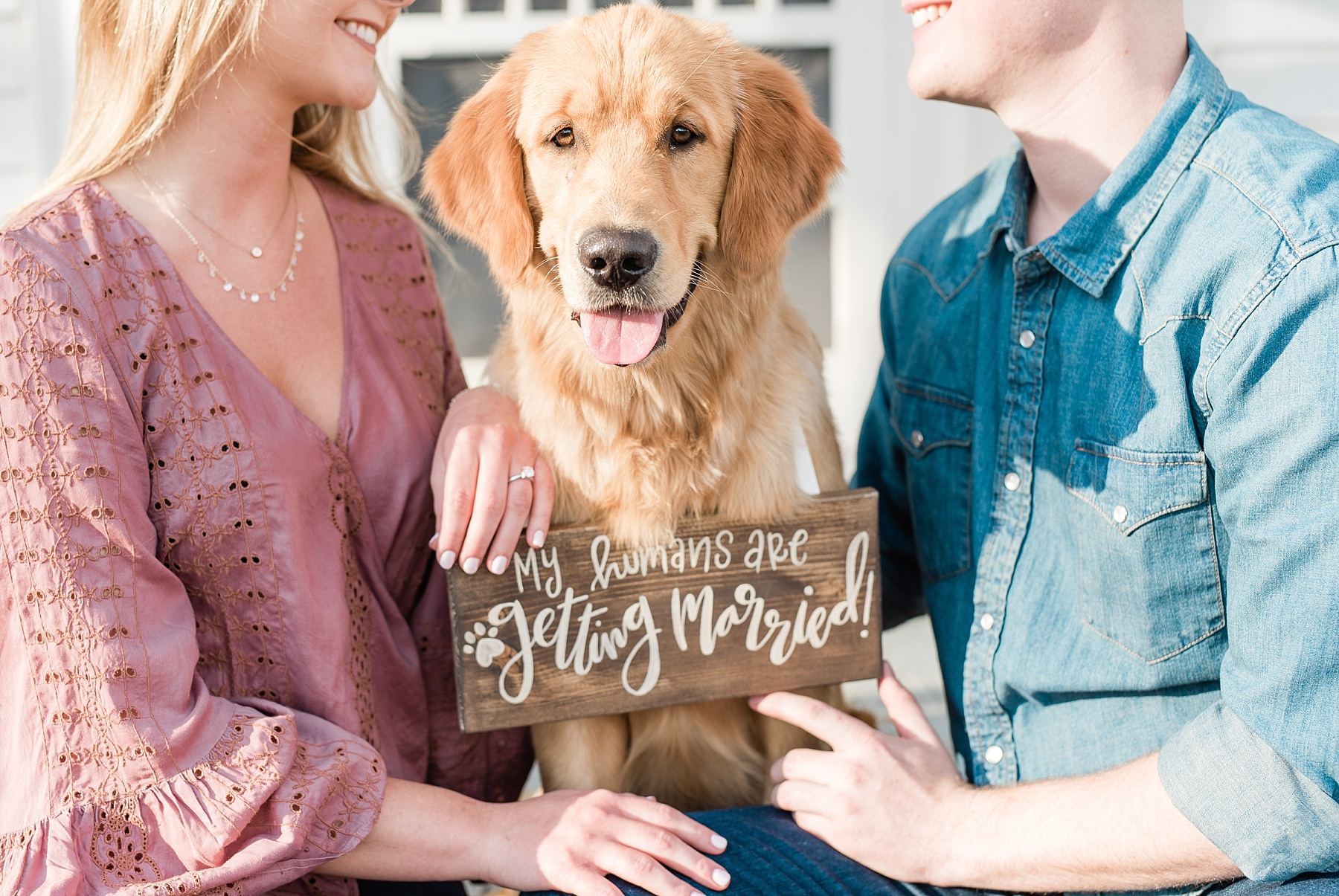 Spring Sunset Engagement Session with High School Sweethearts and Golden Retriever Puppy at Blue Bell Farm Fayette Missouri by Kelsi Kliethermes Photography_0004.jpg