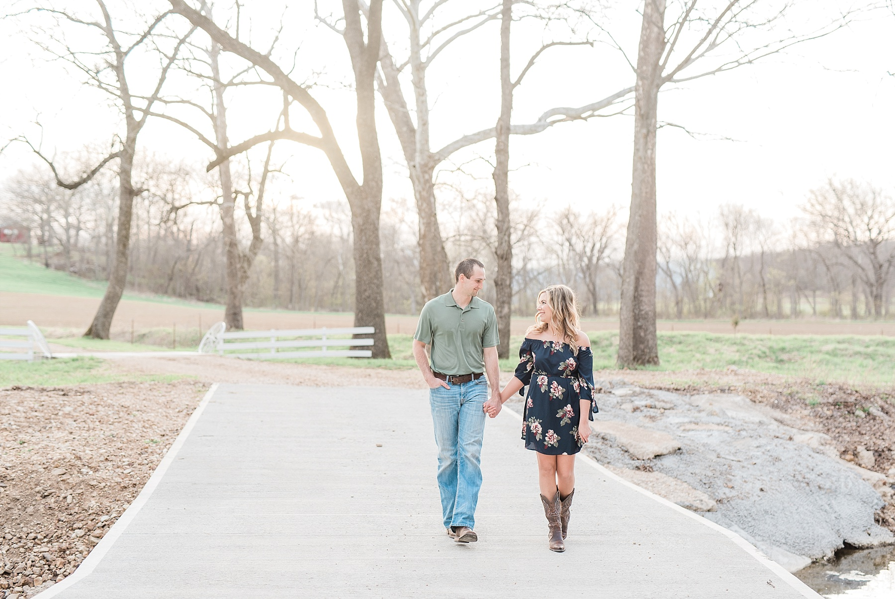 Spring Sunset Farm Engagement Session on Family Farm in Missouri Midwest by Kelsi Kliethermes Photography_0005.jpg