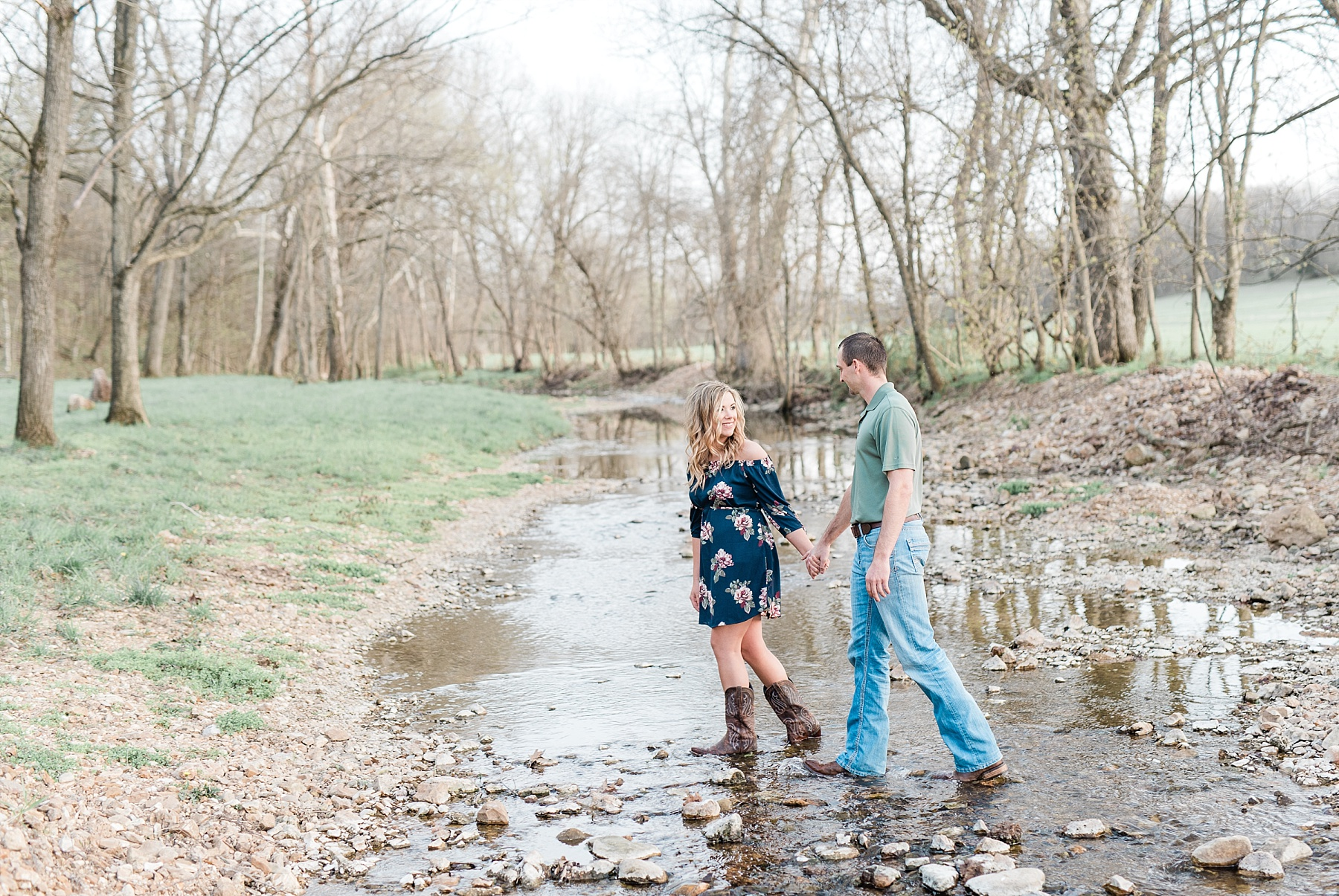 Spring Sunset Farm Engagement Session on Family Farm in Missouri Midwest by Kelsi Kliethermes Photography_0008.jpg