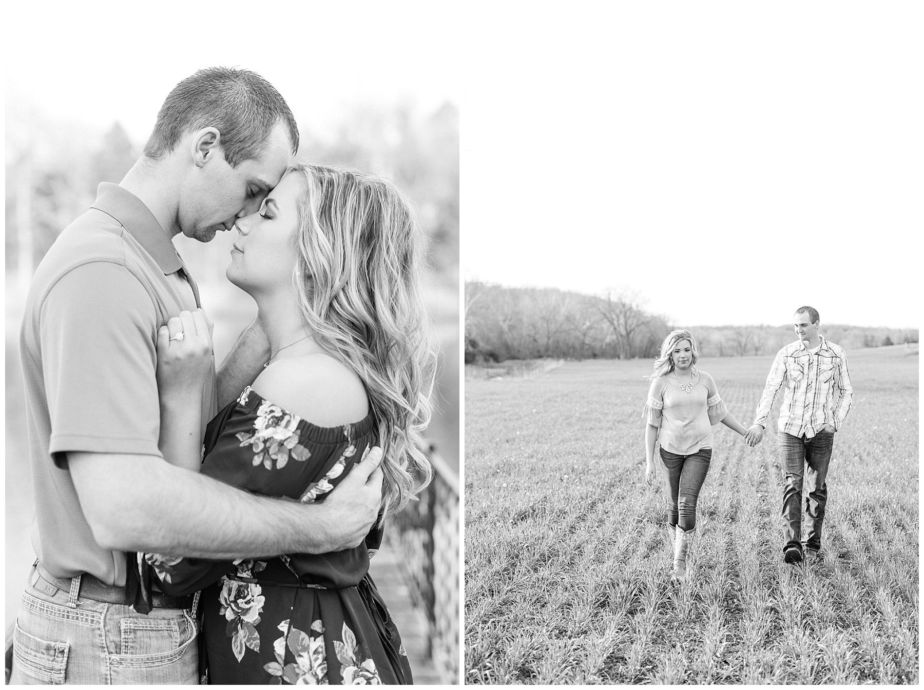 Spring Sunset Farm Engagement Session on Family Farm in Missouri Midwest by Kelsi Kliethermes Photography_0011.jpg