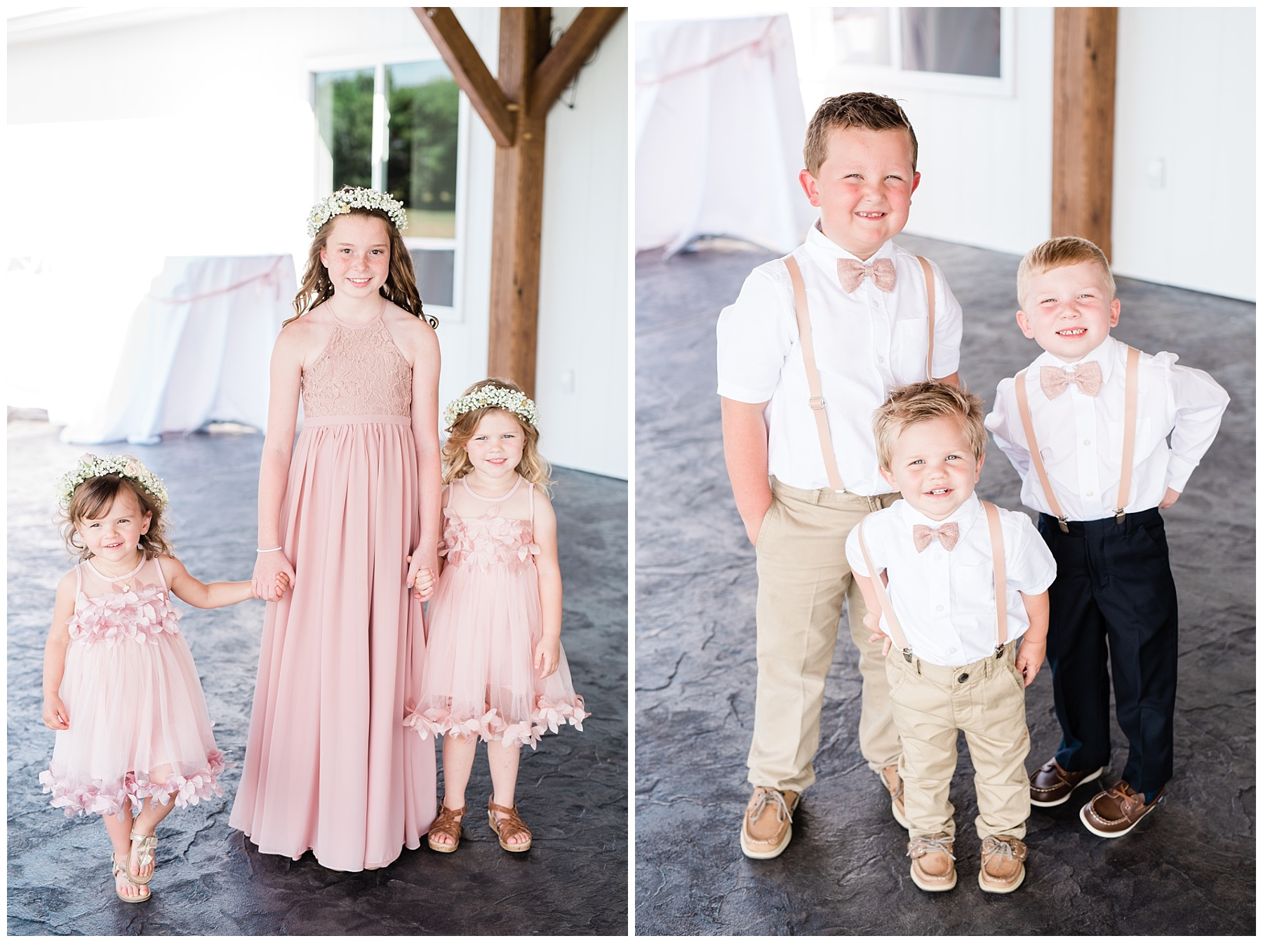 Stunning Heartfelt, Elegant, Fine Art, Chic, Outdoor Spring Wedding with Blush, Cream, Greenery, Rose Gold, and Sequins at Emerson Fields Venue by Kelsi Kliethermes Photography_0003.jpg