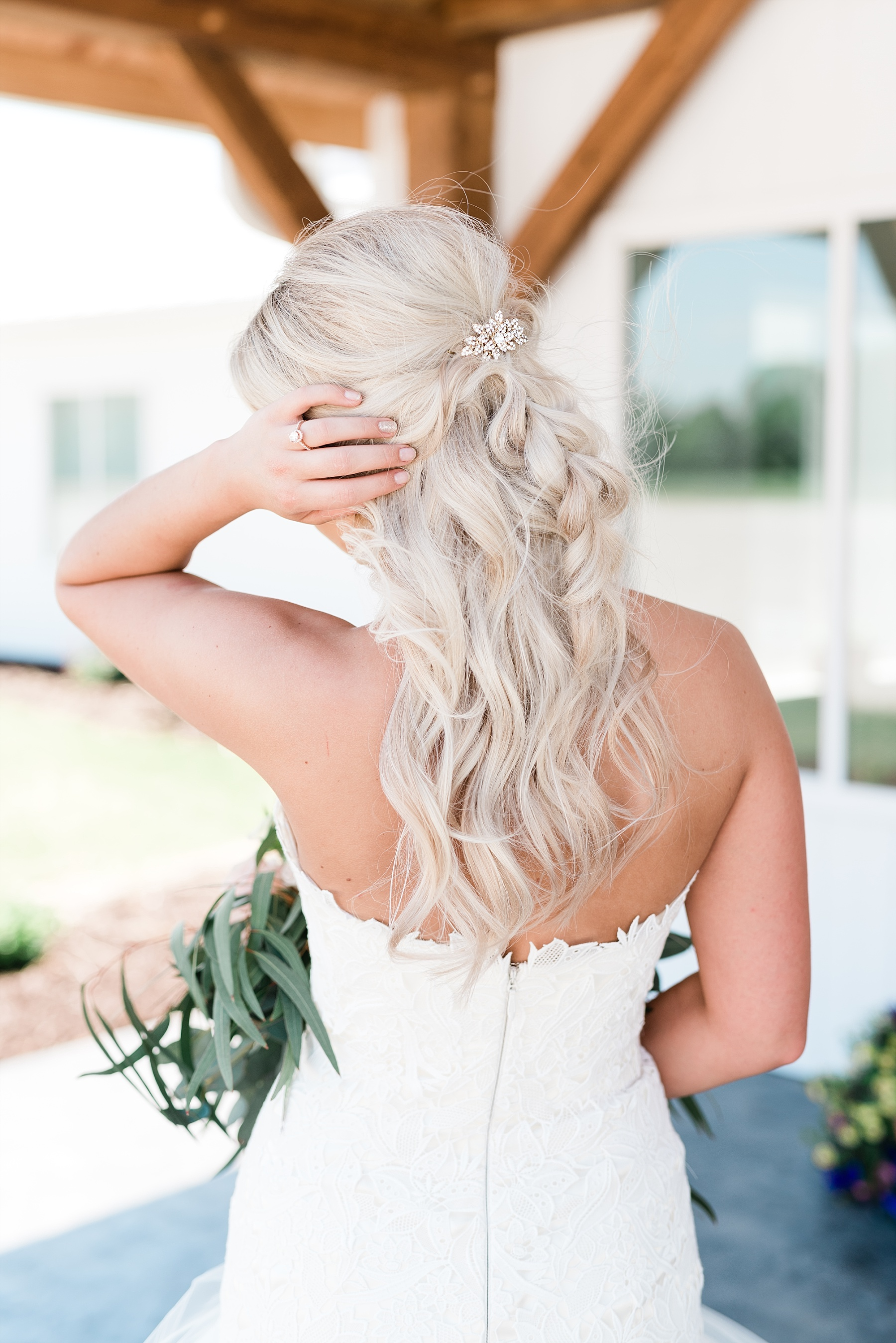 Stunning Heartfelt, Elegant, Fine Art, Chic, Outdoor Spring Wedding with Blush, Cream, Greenery, Rose Gold, and Sequins at Emerson Fields Venue by Kelsi Kliethermes Photography_0018.jpg