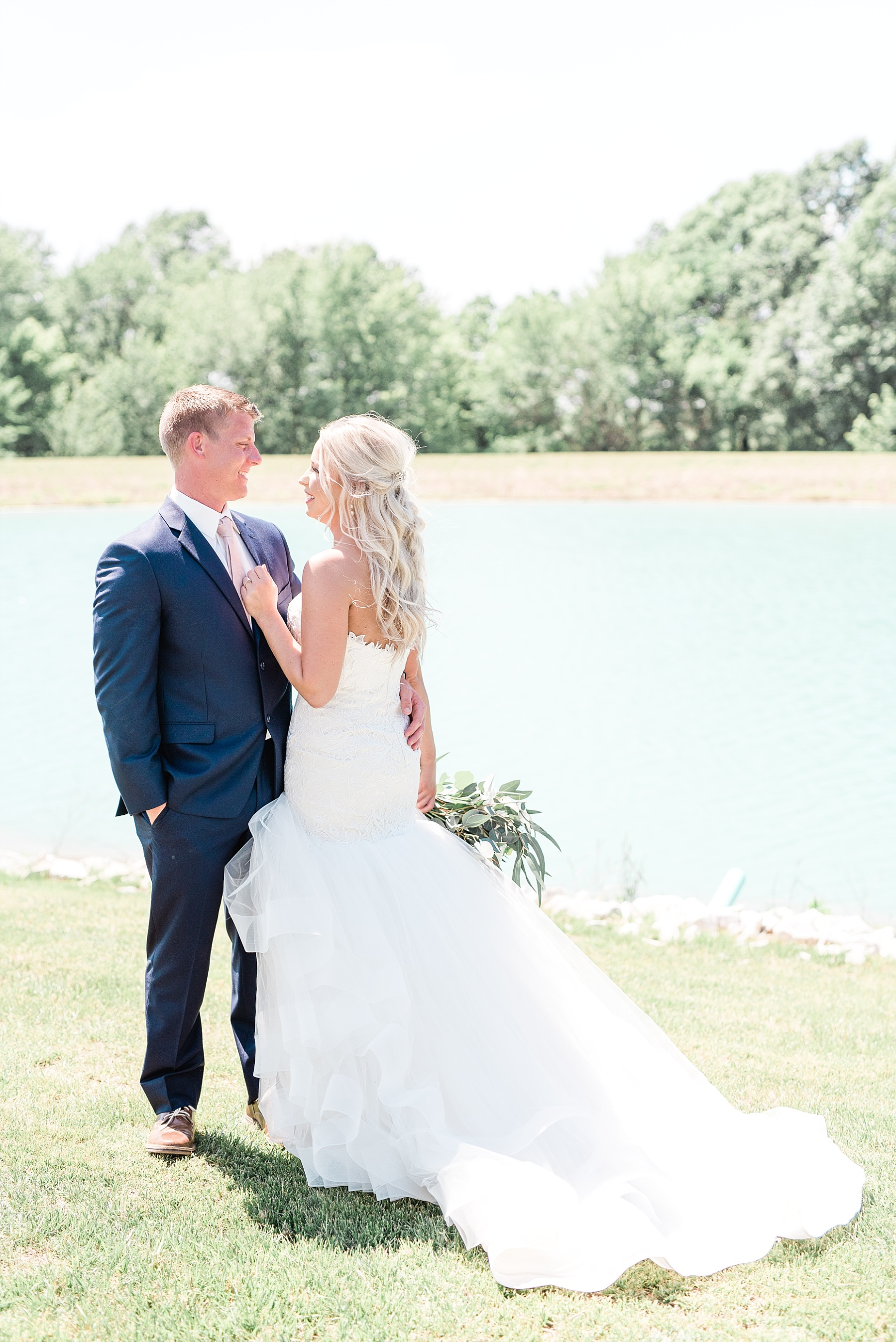 Stunning Heartfelt, Elegant, Fine Art, Chic, Outdoor Spring Wedding with Blush, Cream, Greenery, Rose Gold, and Sequins at Emerson Fields Venue by Kelsi Kliethermes Photography_0025.jpg
