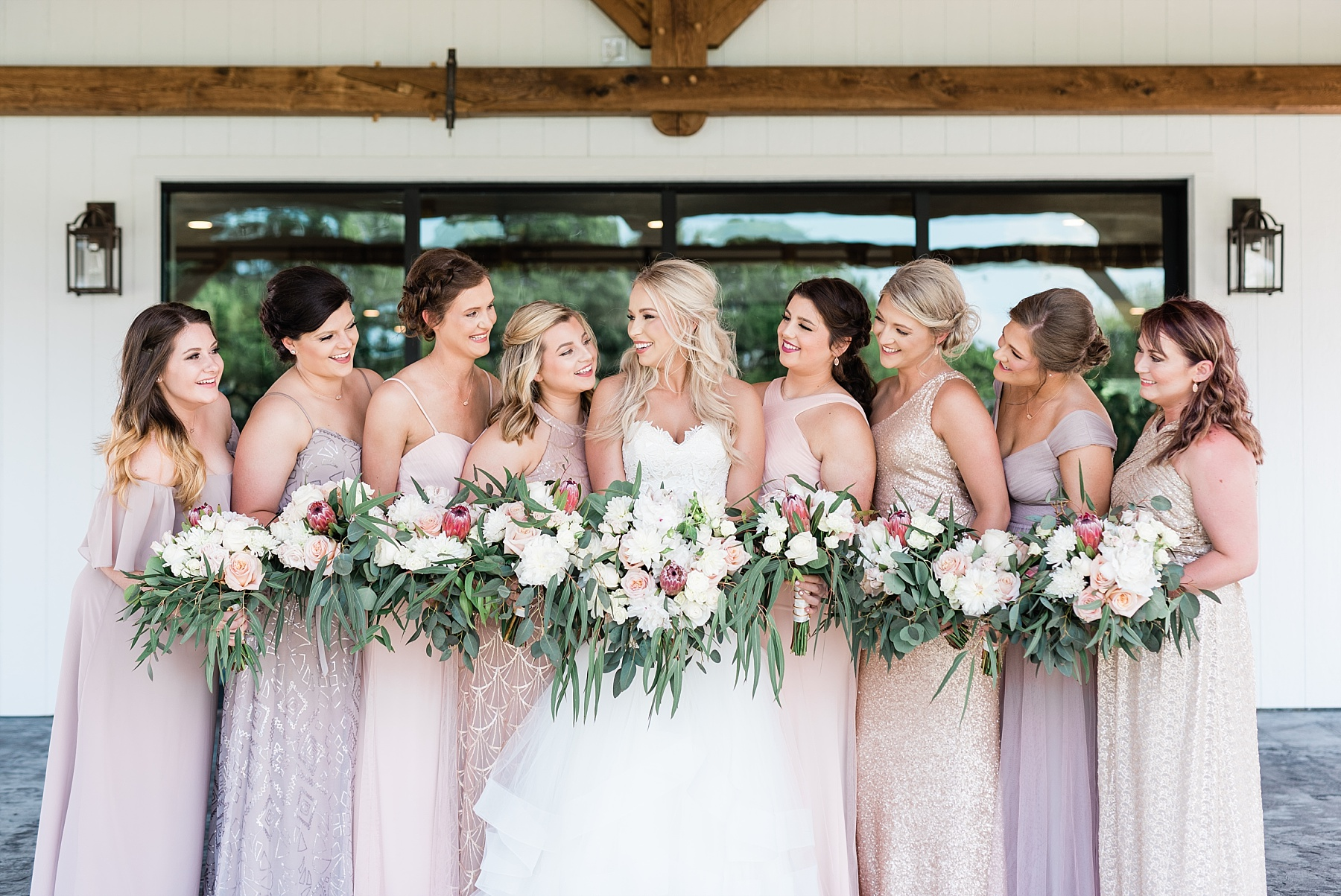 Stunning Heartfelt, Elegant, Fine Art, Chic, Outdoor Spring Wedding with Blush, Cream, Greenery, Rose Gold, and Sequins at Emerson Fields Venue by Kelsi Kliethermes Photography_0029.jpg