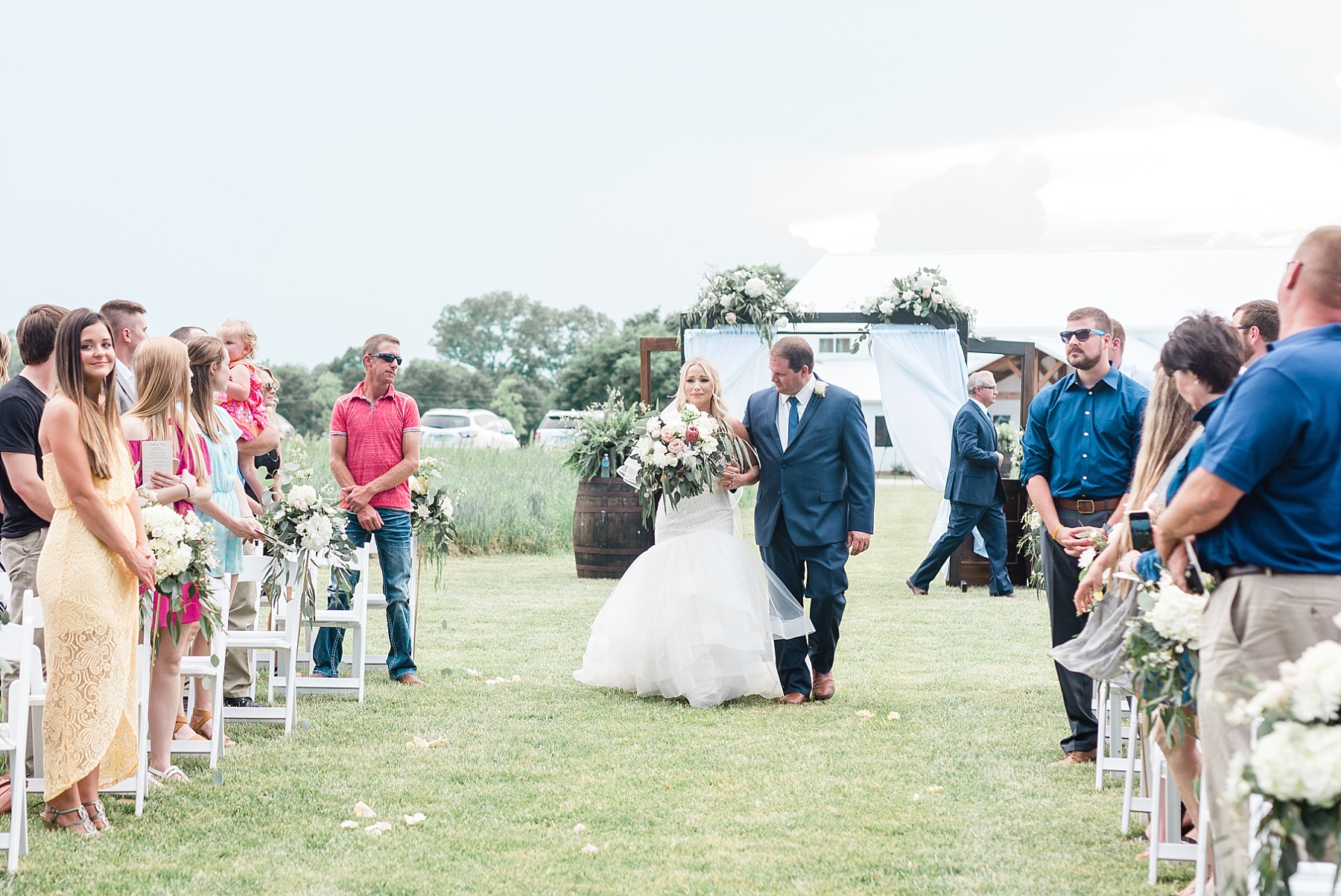 Stunning Heartfelt, Elegant, Fine Art, Chic, Outdoor Spring Wedding with Blush, Cream, Greenery, Rose Gold, and Sequins at Emerson Fields Venue by Kelsi Kliethermes Photography_0047.jpg