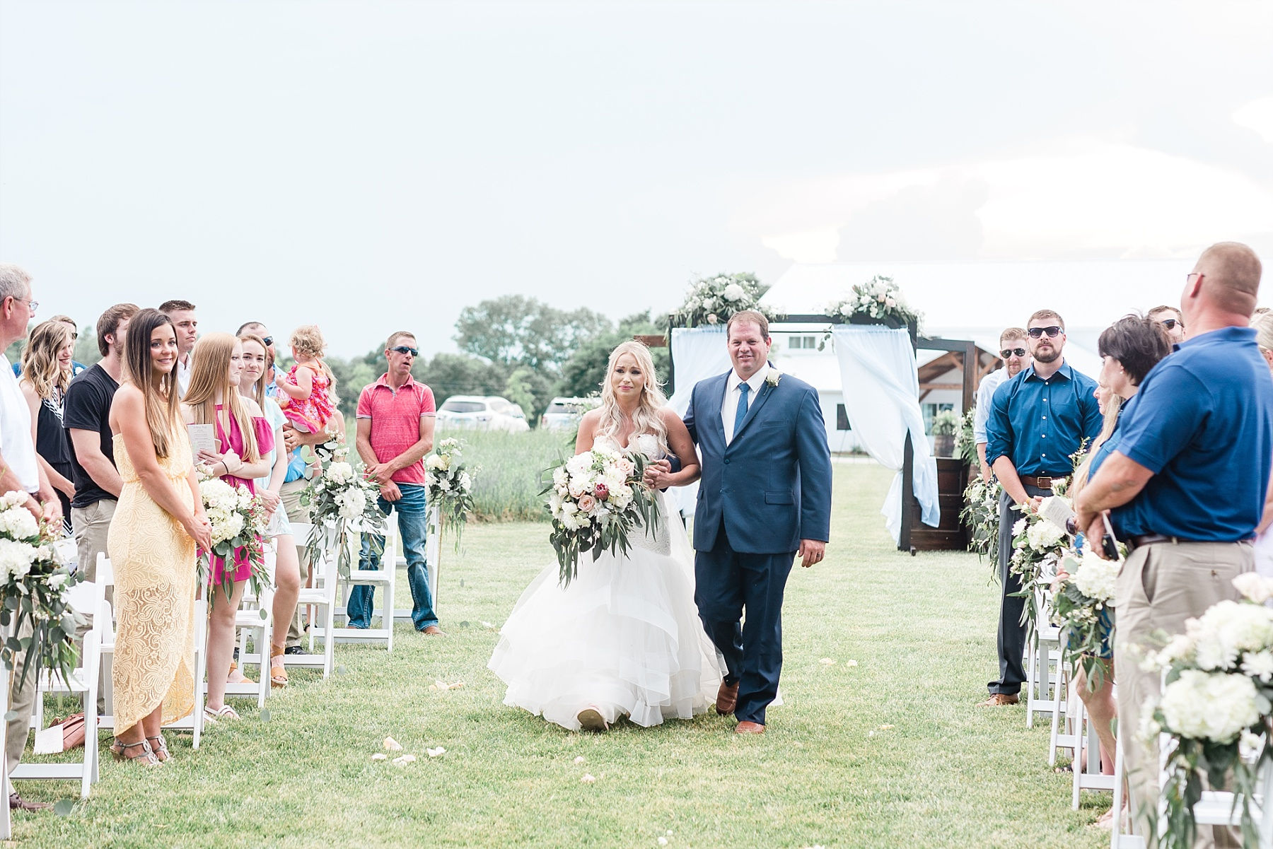 Stunning Heartfelt, Elegant, Fine Art, Chic, Outdoor Spring Wedding with Blush, Cream, Greenery, Rose Gold, and Sequins at Emerson Fields Venue by Kelsi Kliethermes Photography_0048.jpg