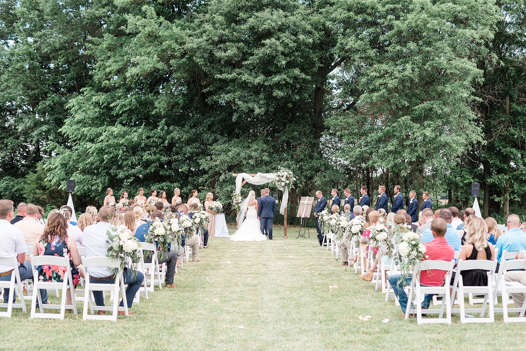 Stunning Heartfelt, Elegant, Fine Art, Chic, Outdoor Spring Wedding with Blush, Cream, Greenery, Rose Gold, and Sequins at Emerson Fields Venue by Kelsi Kliethermes Photography_0050.jpg