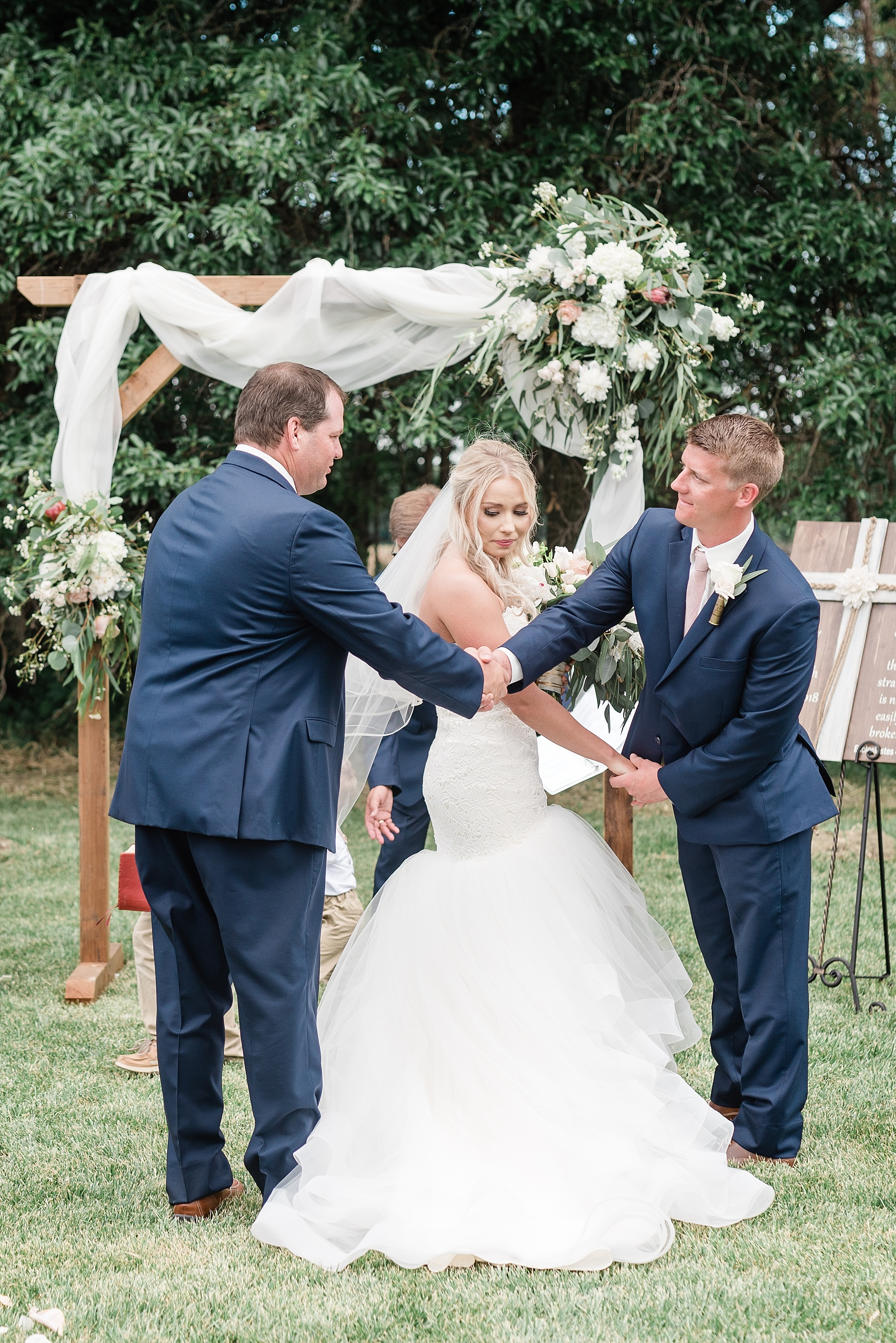 Stunning Heartfelt, Elegant, Fine Art, Chic, Outdoor Spring Wedding with Blush, Cream, Greenery, Rose Gold, and Sequins at Emerson Fields Venue by Kelsi Kliethermes Photography_0049.jpg