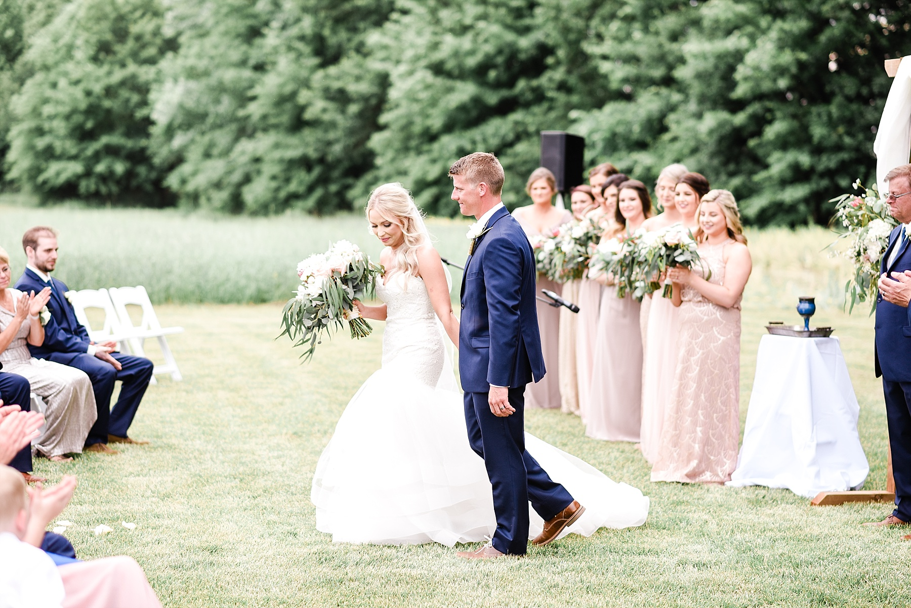 Stunning Heartfelt, Elegant, Fine Art, Chic, Outdoor Spring Wedding with Blush, Cream, Greenery, Rose Gold, and Sequins at Emerson Fields Venue by Kelsi Kliethermes Photography_0053.jpg
