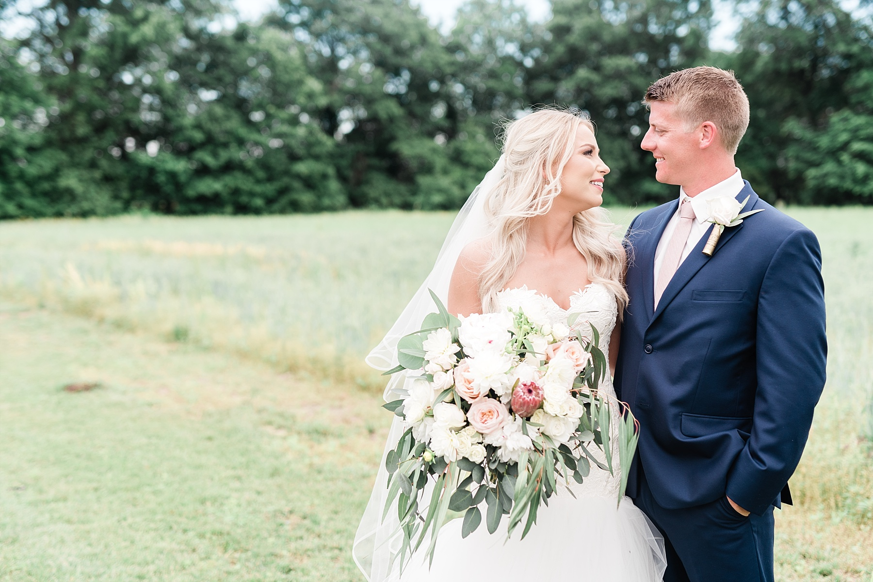 Stunning Heartfelt, Elegant, Fine Art, Chic, Outdoor Spring Wedding with Blush, Cream, Greenery, Rose Gold, and Sequins at Emerson Fields Venue by Kelsi Kliethermes Photography_0055.jpg