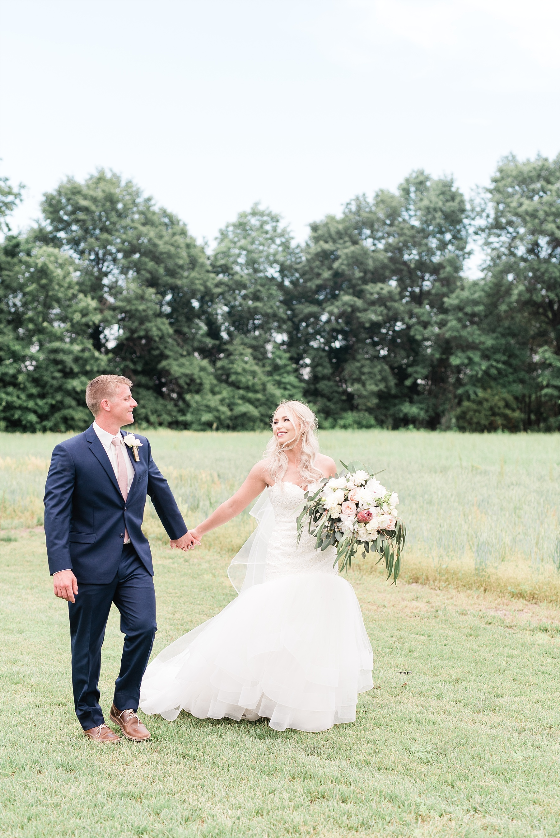 Stunning Heartfelt, Elegant, Fine Art, Chic, Outdoor Spring Wedding with Blush, Cream, Greenery, Rose Gold, and Sequins at Emerson Fields Venue by Kelsi Kliethermes Photography_0056.jpg