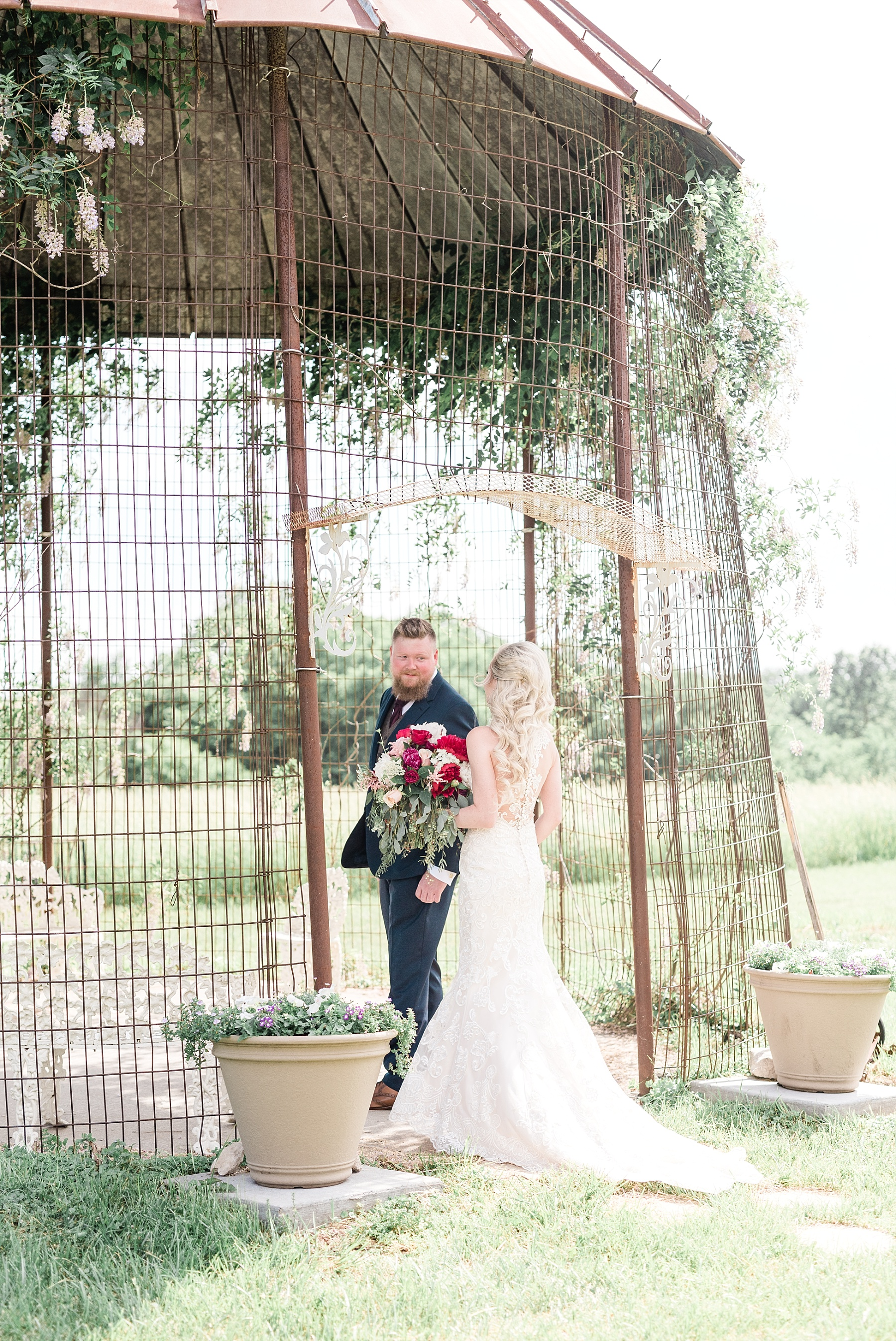 Light and Airy Spring Shabby Chic Wedding at Bessie's Barn Iowa by Kelsi Kliethermes Photography_0013.jpg
