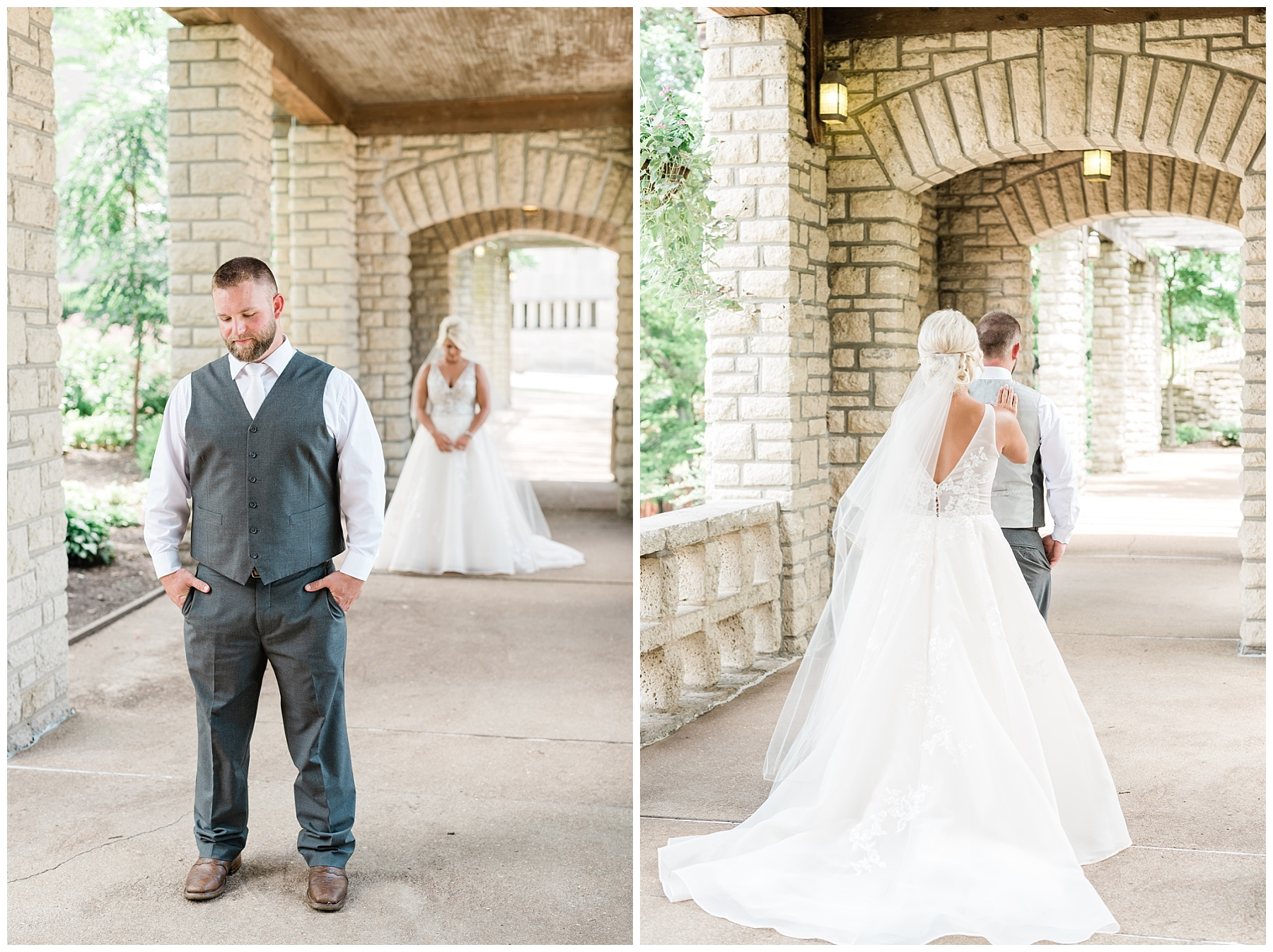 Rose Gold, White, and Greenery High Class Summer Wedding at The Millbottom in Downtown Jefferson City by Kelsi Kliethermes Photography_0008.jpg