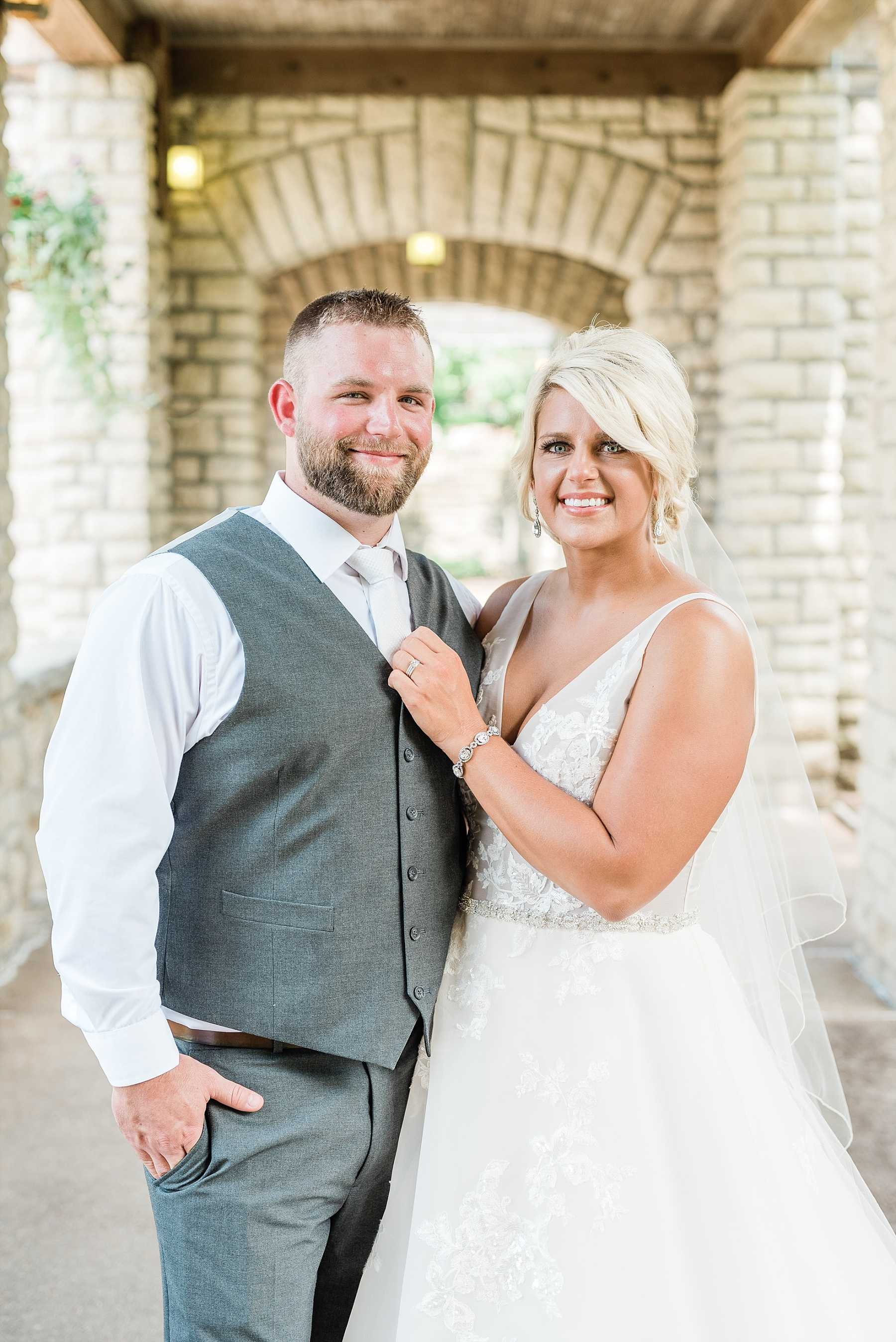 Rose Gold, White, and Greenery High Class Summer Wedding at The Millbottom in Downtown Jefferson City by Kelsi Kliethermes Photography_0023.jpg