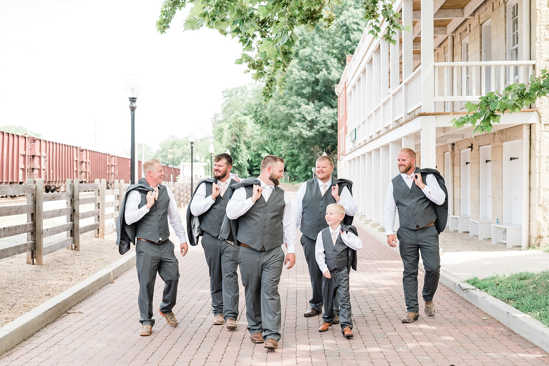 Rose Gold, White, and Greenery High Class Summer Wedding at The Millbottom in Downtown Jefferson City by Kelsi Kliethermes Photography_0034.jpg