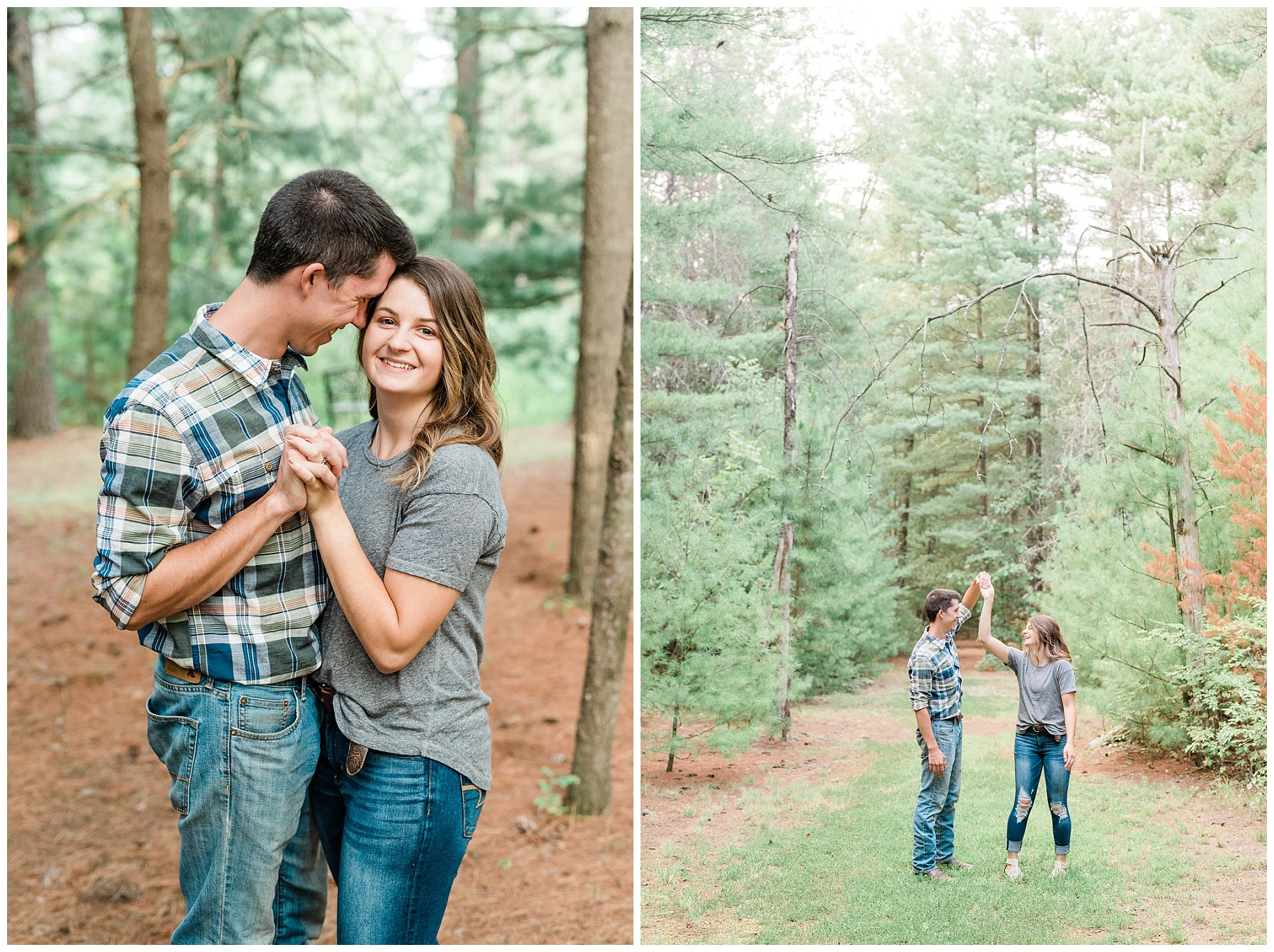 Wanderlust Engagement Session in the Pines with Sunset Canoe Ride in Blue Green Lake in Mid Missouri by Kelsi Kliethermes Photography_0002.jpg