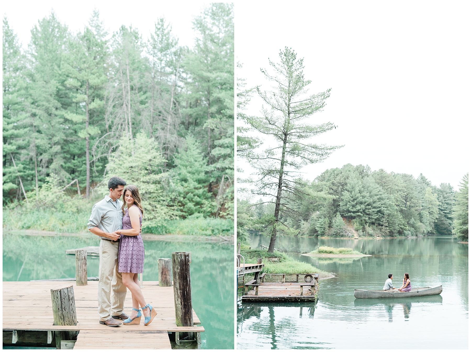 Wanderlust Engagement Session in the Pines with Sunset Canoe Ride in Blue Green Lake in Mid Missouri by Kelsi Kliethermes Photography_0003.jpg