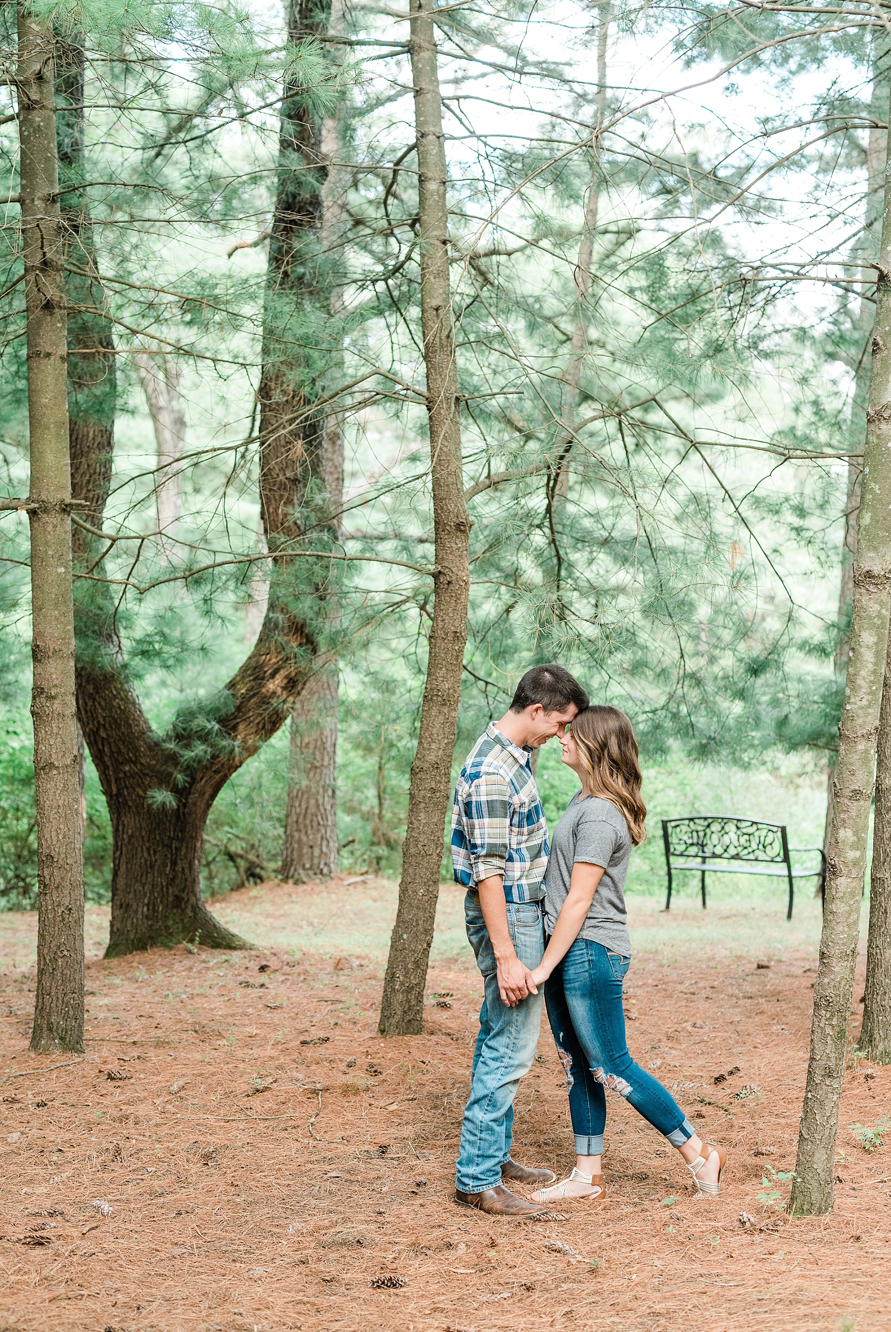 Wanderlust Engagement Session in the Pines with Sunset Canoe Ride in Blue Green Lake in Mid Missouri by Kelsi Kliethermes Photography_0007.jpg