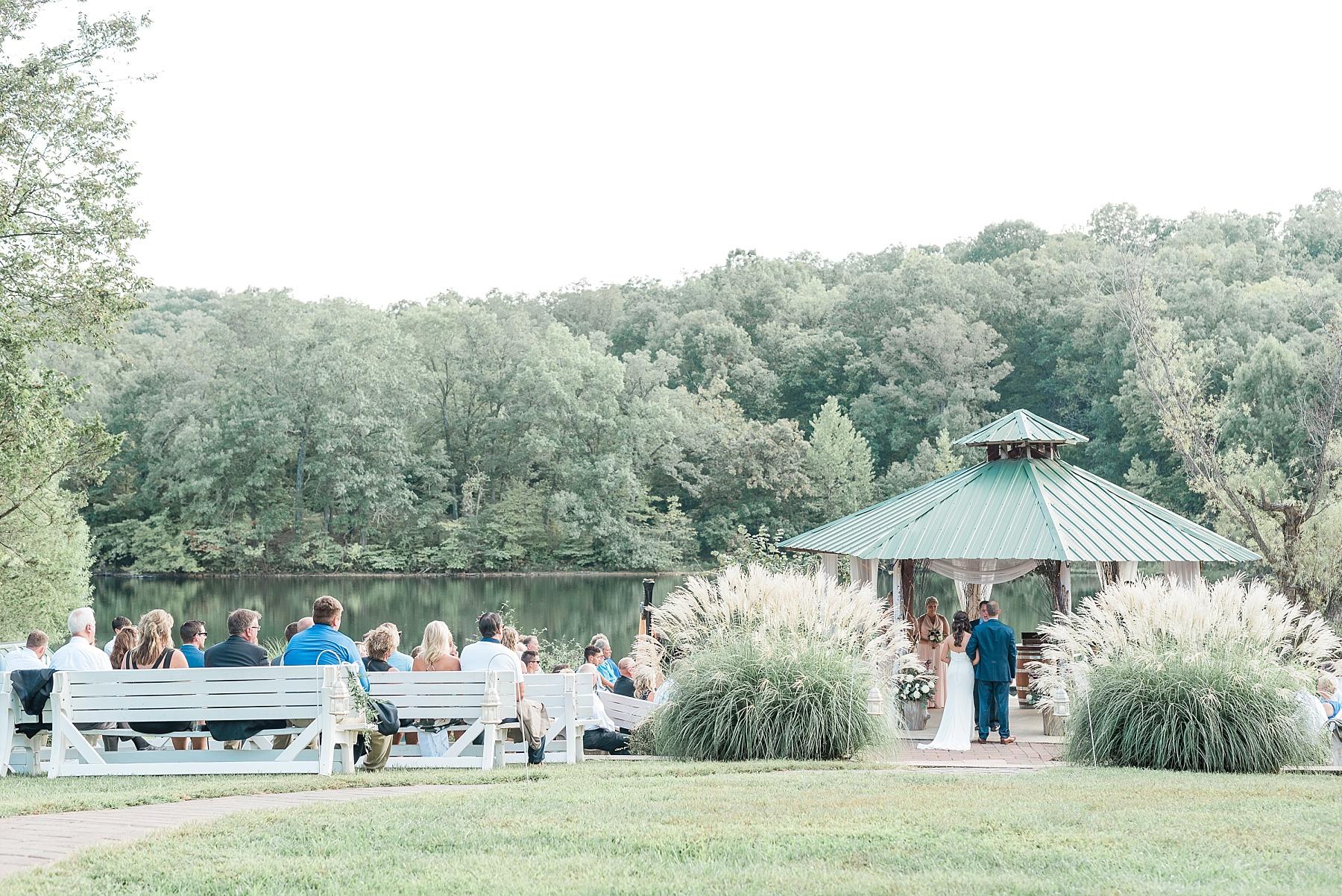 Romantic Summer Sunset Wedding Ceremony at Little Piney Lodge St. Louis Missouri by Kelsi Kliethermes Photography Fine Art Photographer_0009.jpg