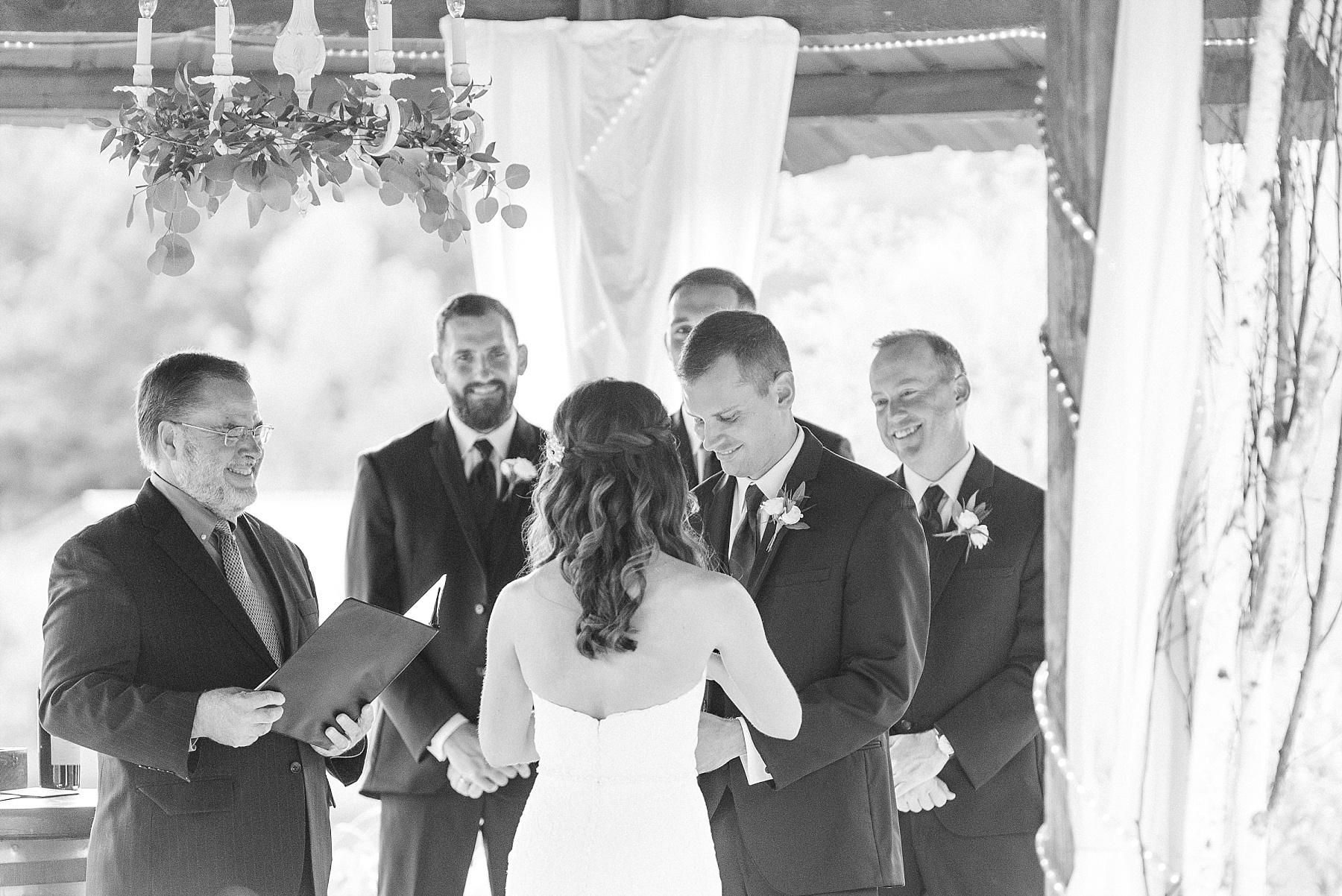 Romantic Summer Sunset Wedding Ceremony at Little Piney Lodge St. Louis Missouri by Kelsi Kliethermes Photography Fine Art Photographer_0010.jpg