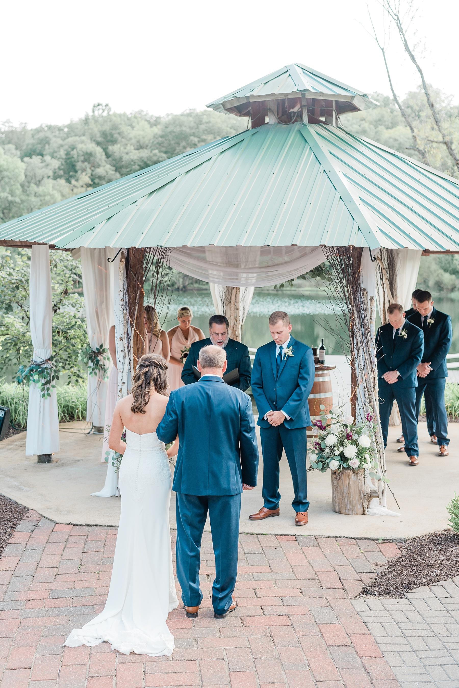 Romantic Summer Sunset Wedding Ceremony at Little Piney Lodge St. Louis Missouri by Kelsi Kliethermes Photography Fine Art Photographer_0054.jpg