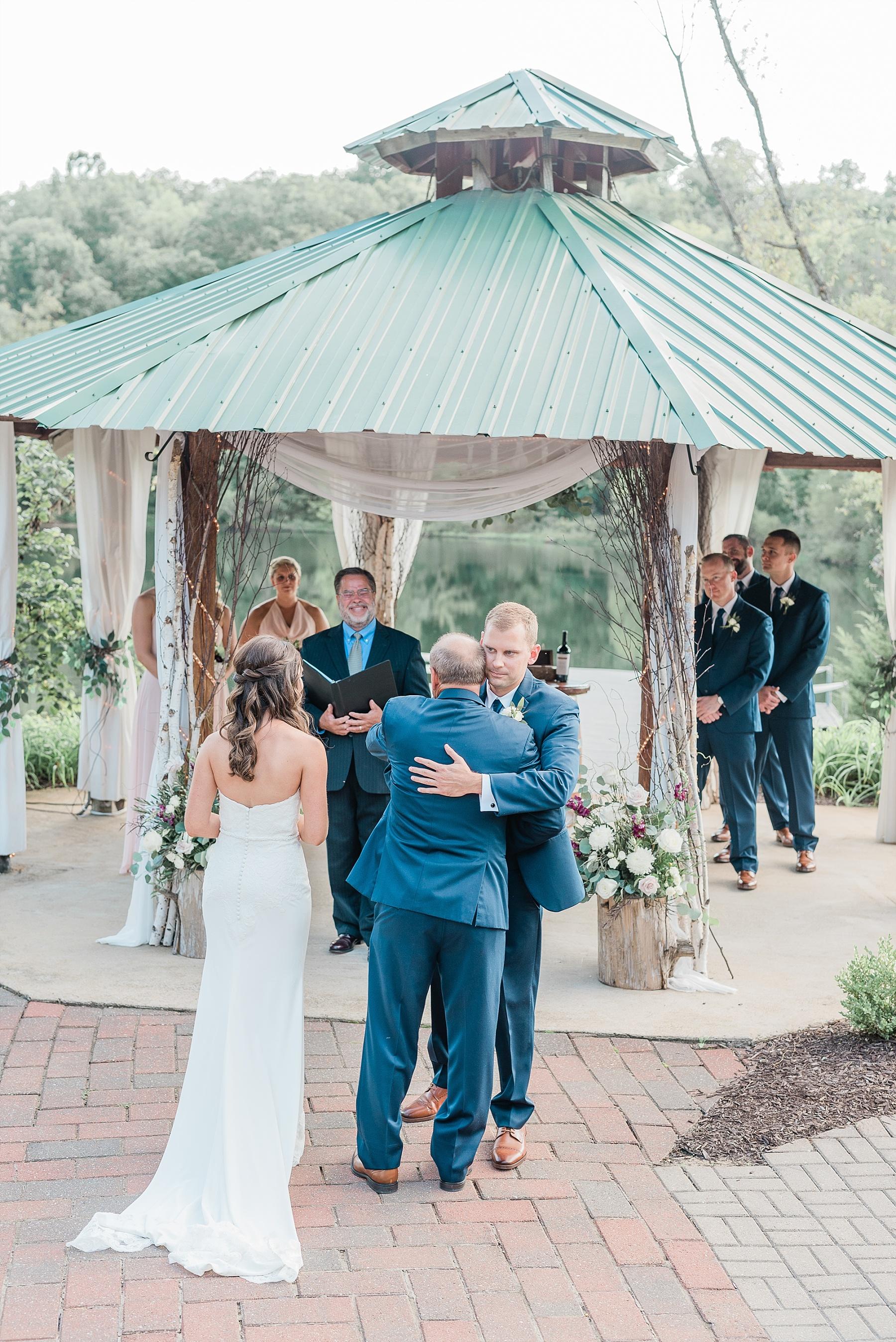 Romantic Summer Sunset Wedding Ceremony at Little Piney Lodge St. Louis Missouri by Kelsi Kliethermes Photography Fine Art Photographer_0055.jpg