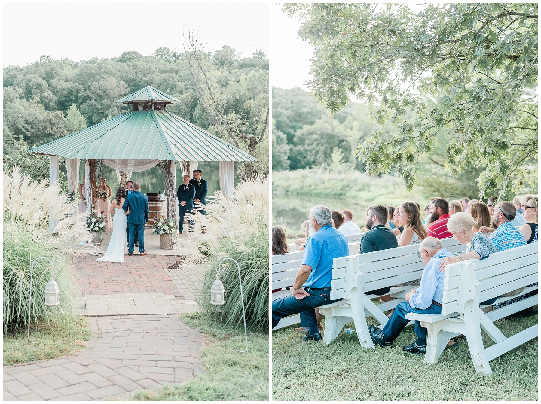 Romantic Summer Sunset Wedding Ceremony at Little Piney Lodge St. Louis Missouri by Kelsi Kliethermes Photography Fine Art Photographer_0056.jpg