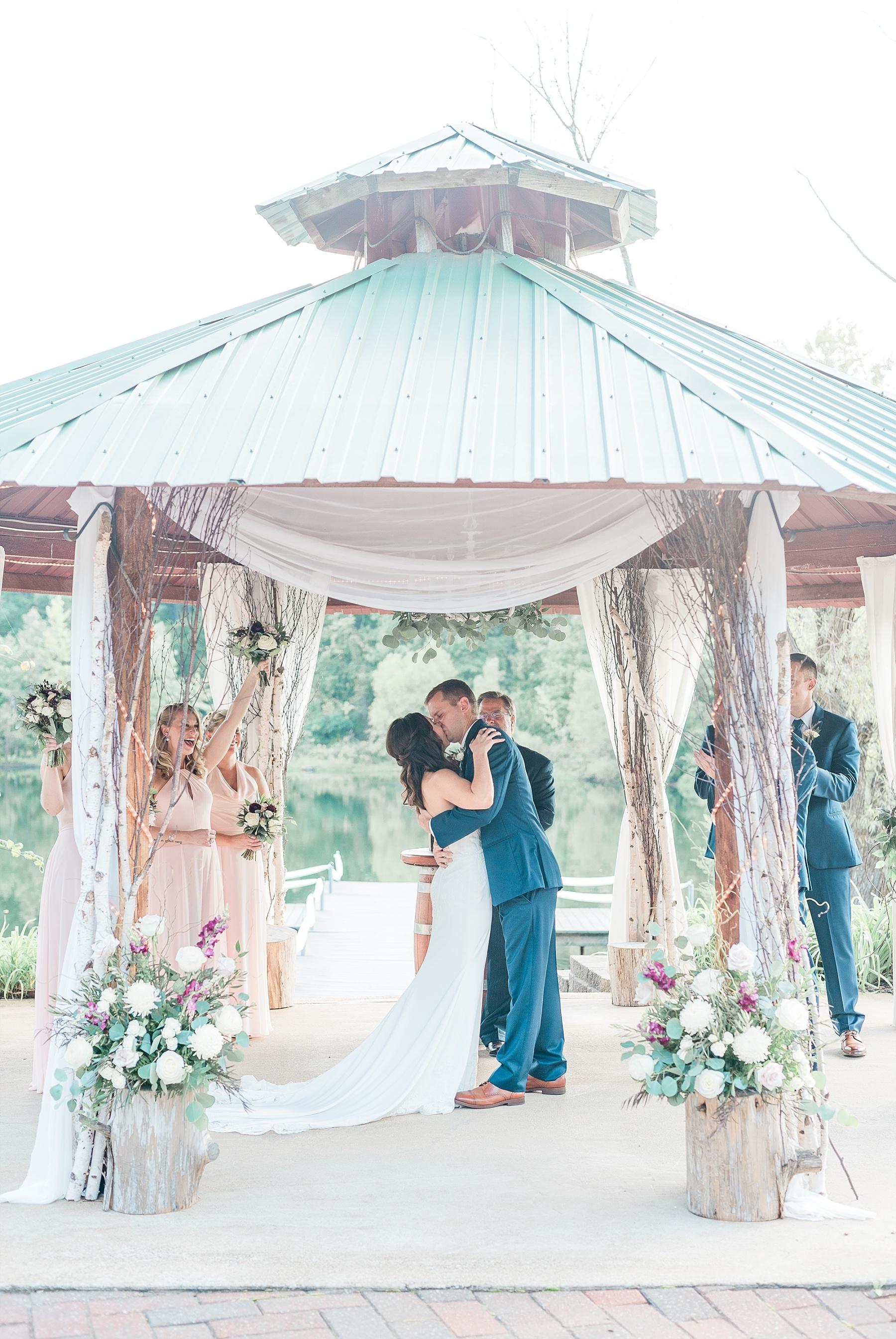Romantic Summer Sunset Wedding Ceremony at Little Piney Lodge St. Louis Missouri by Kelsi Kliethermes Photography Fine Art Photographer_0058.jpg