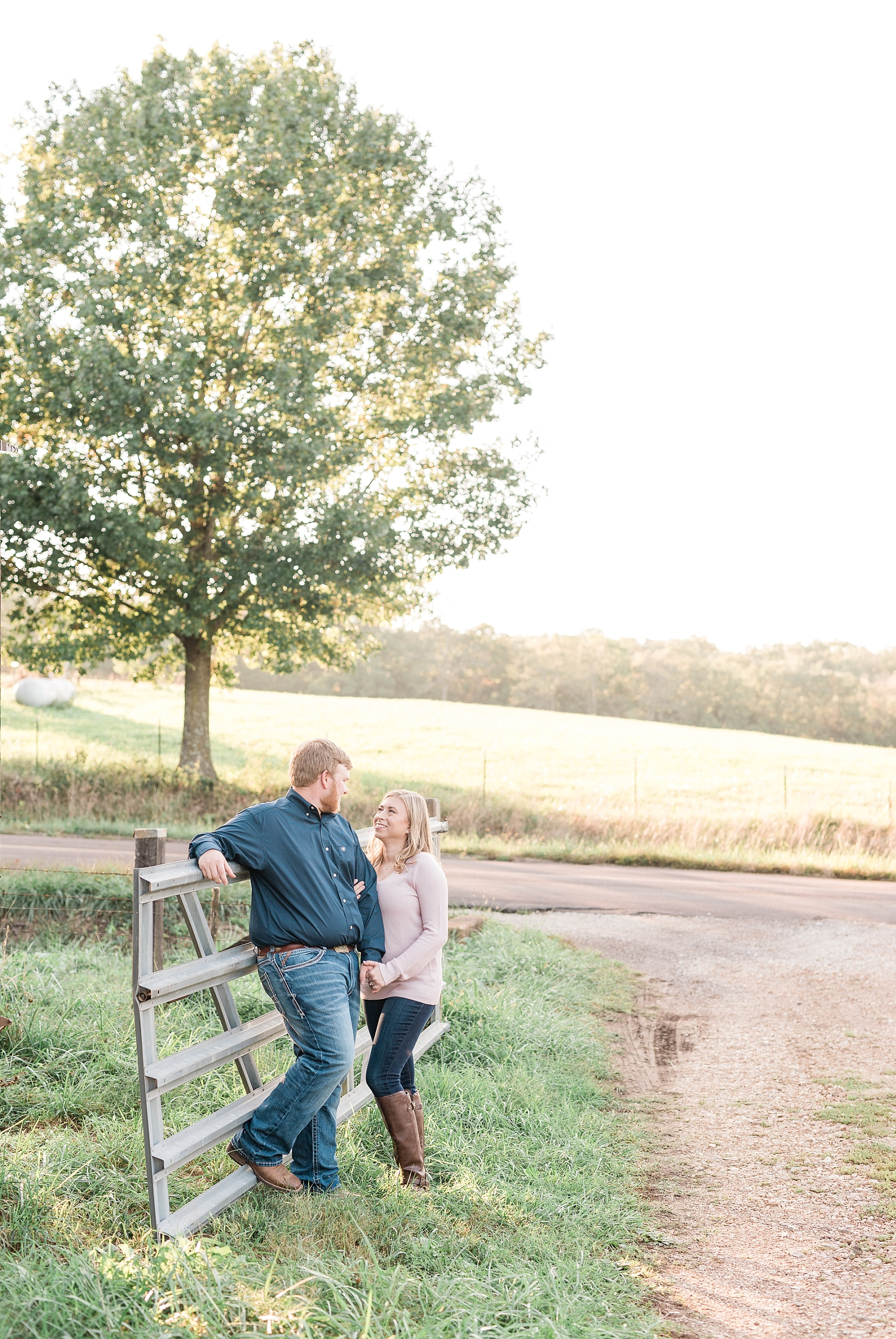 Autumn Golden Sunset Engagement Session on Farm in Missouri by Kelsi Kliethermes Photography_0007.jpg