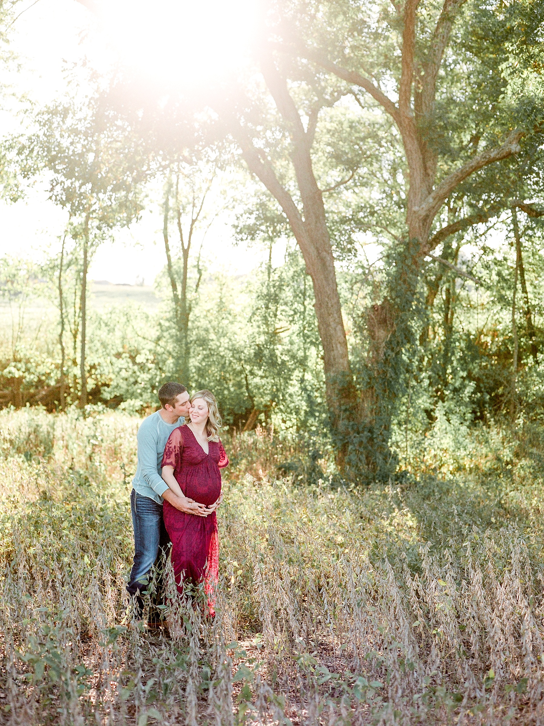 Sunset Maternity Session on Family Farm in Mid Missouri by Kelsi Kliethermes Photography_0009.jpg