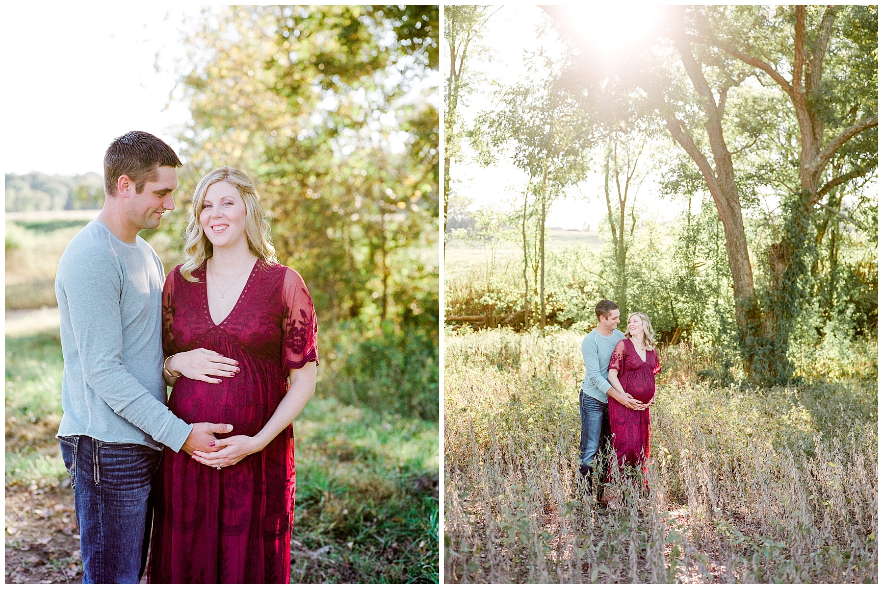 Sunset Maternity Session on Family Farm in Mid Missouri by Kelsi Kliethermes Photography_0011.jpg