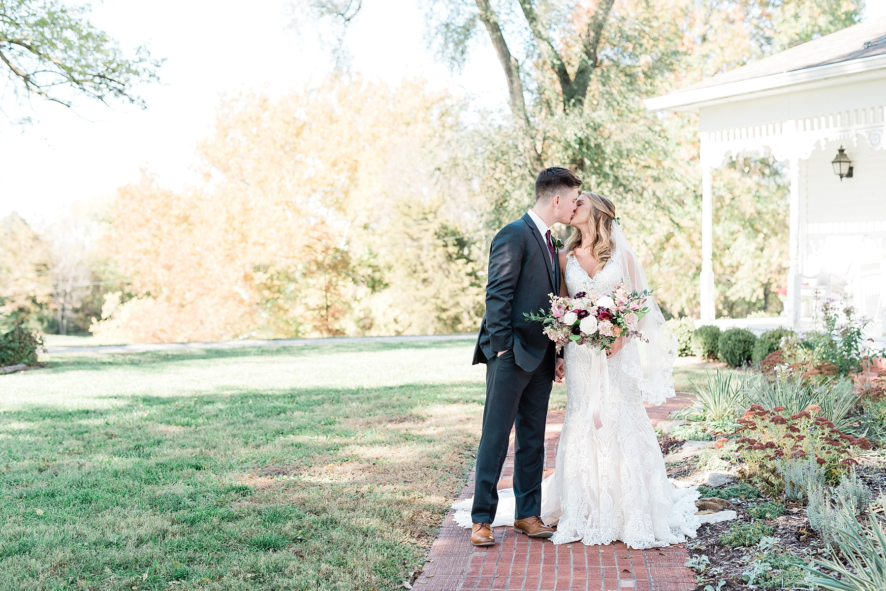 Golden Autumn Outdoor Wedding with Ivory, Bergundy, and Blush Color Palette at Blue Bell Farms  by Kelsi Kliethermes Photography_0014.jpg