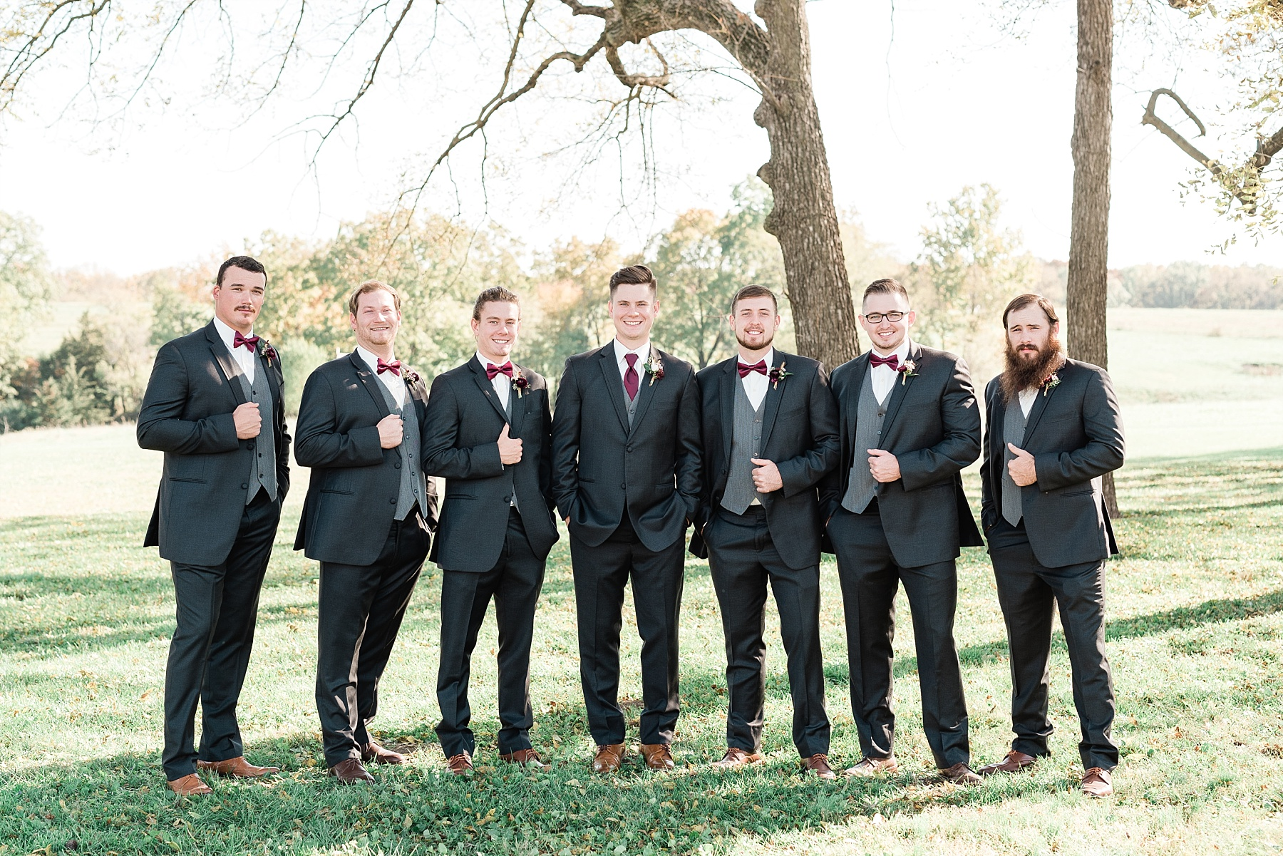 Golden Autumn Outdoor Wedding with Ivory, Bergundy, and Blush Color Palette at Blue Bell Farms  by Kelsi Kliethermes Photography_0016.jpg